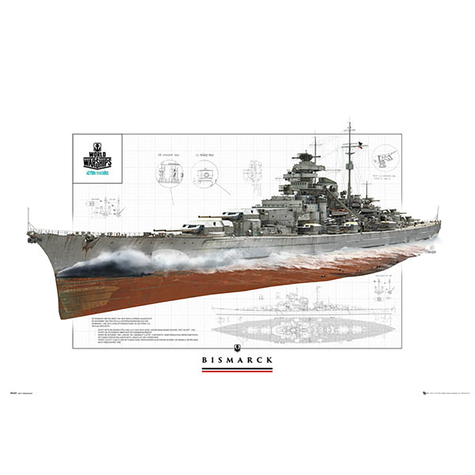 World of Warships Bismark - 61 x 91.5cm Maxi Poster