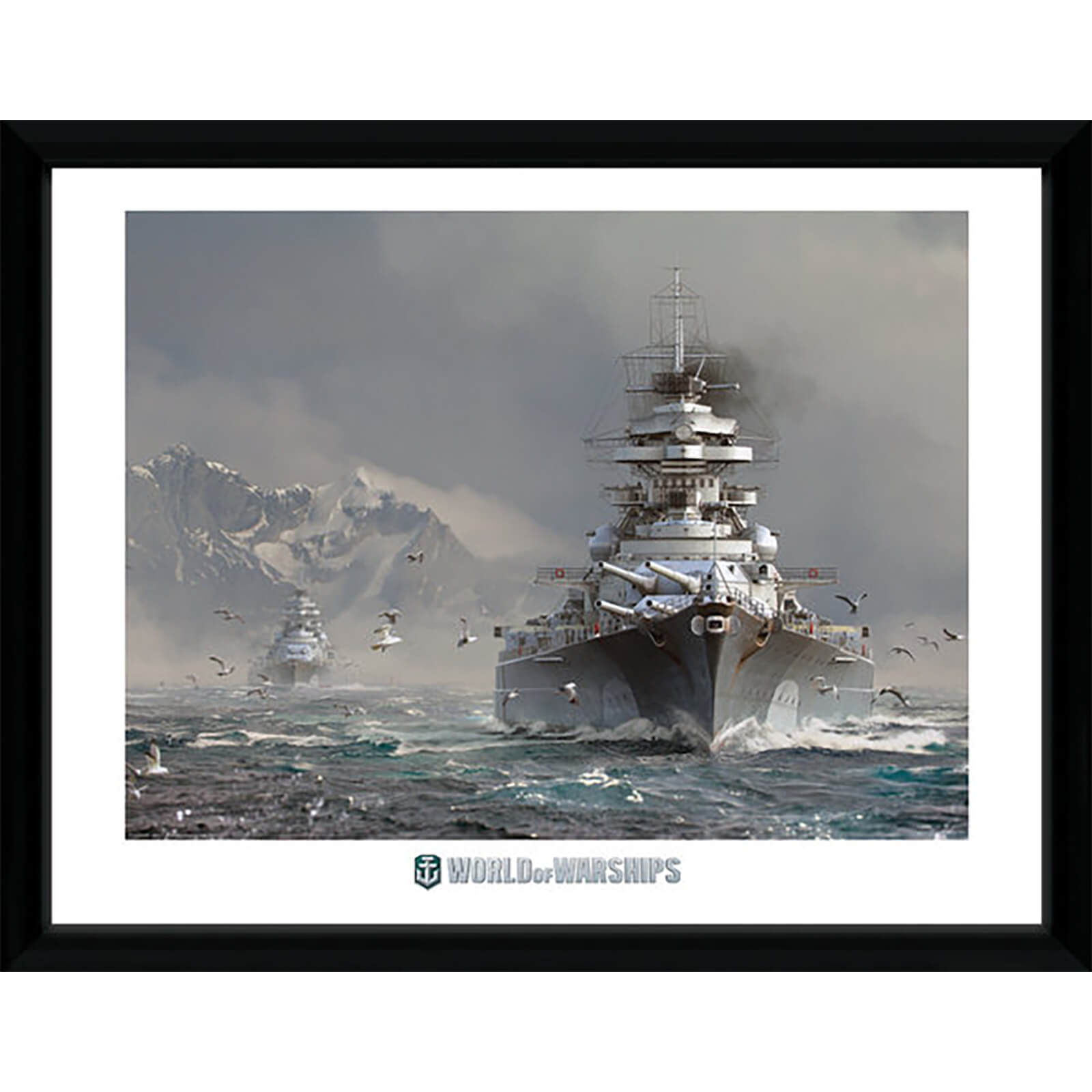 World of Warships Bismark 2 - 16 x 12 Inches Framed Photograph