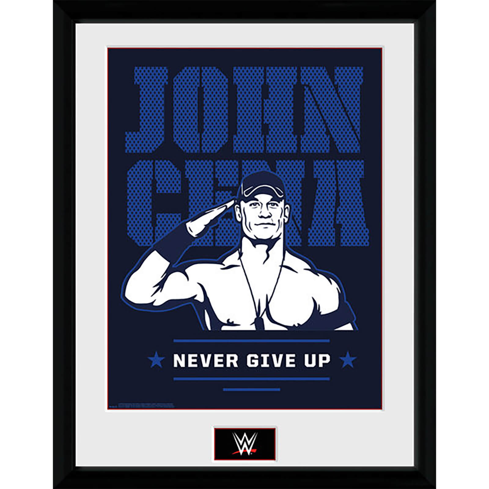 WWE John Cena - 16 x 12 Inches Framed Photograph