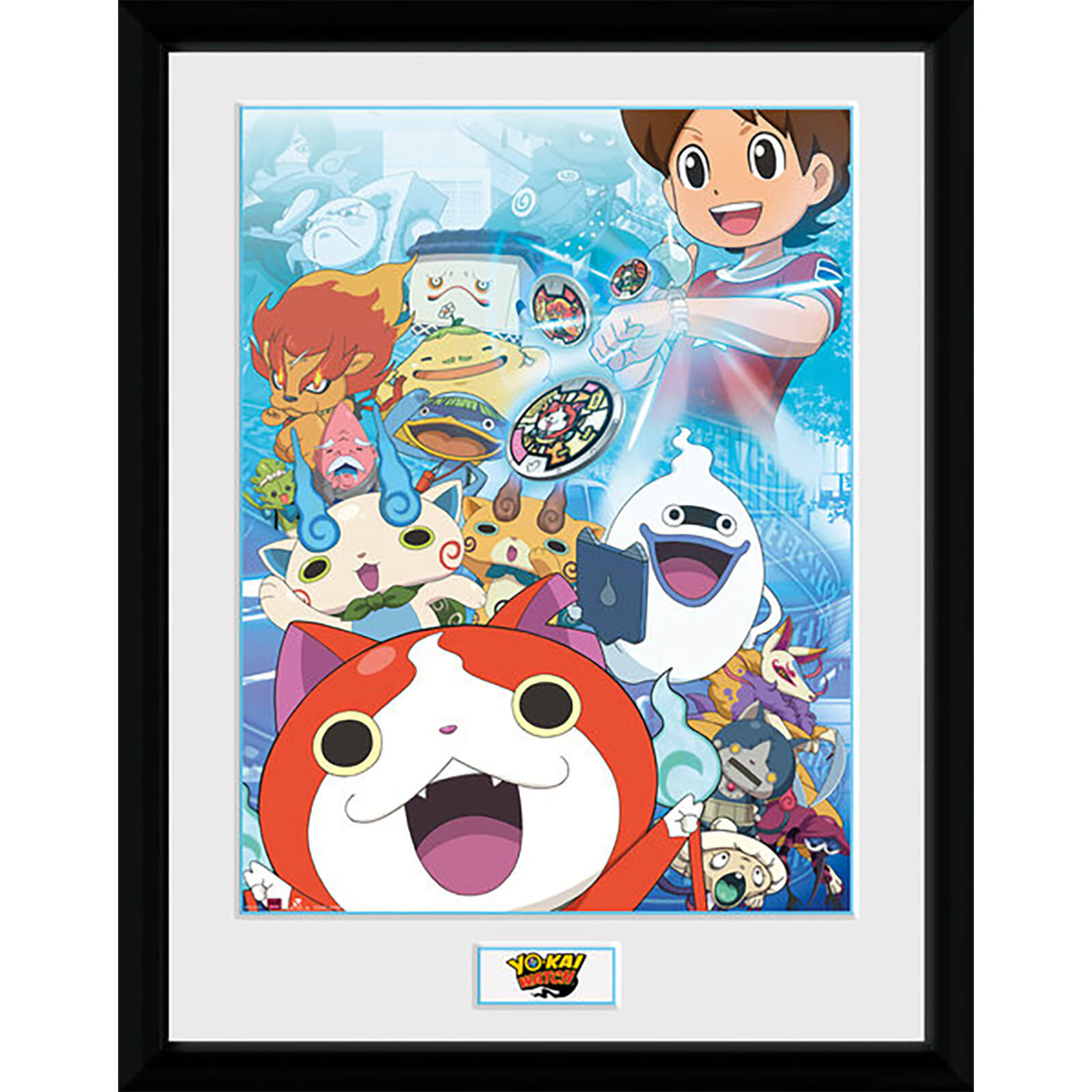 Yo-Kai Watch Key Art - 16 x 12 Inches Framed Photograph