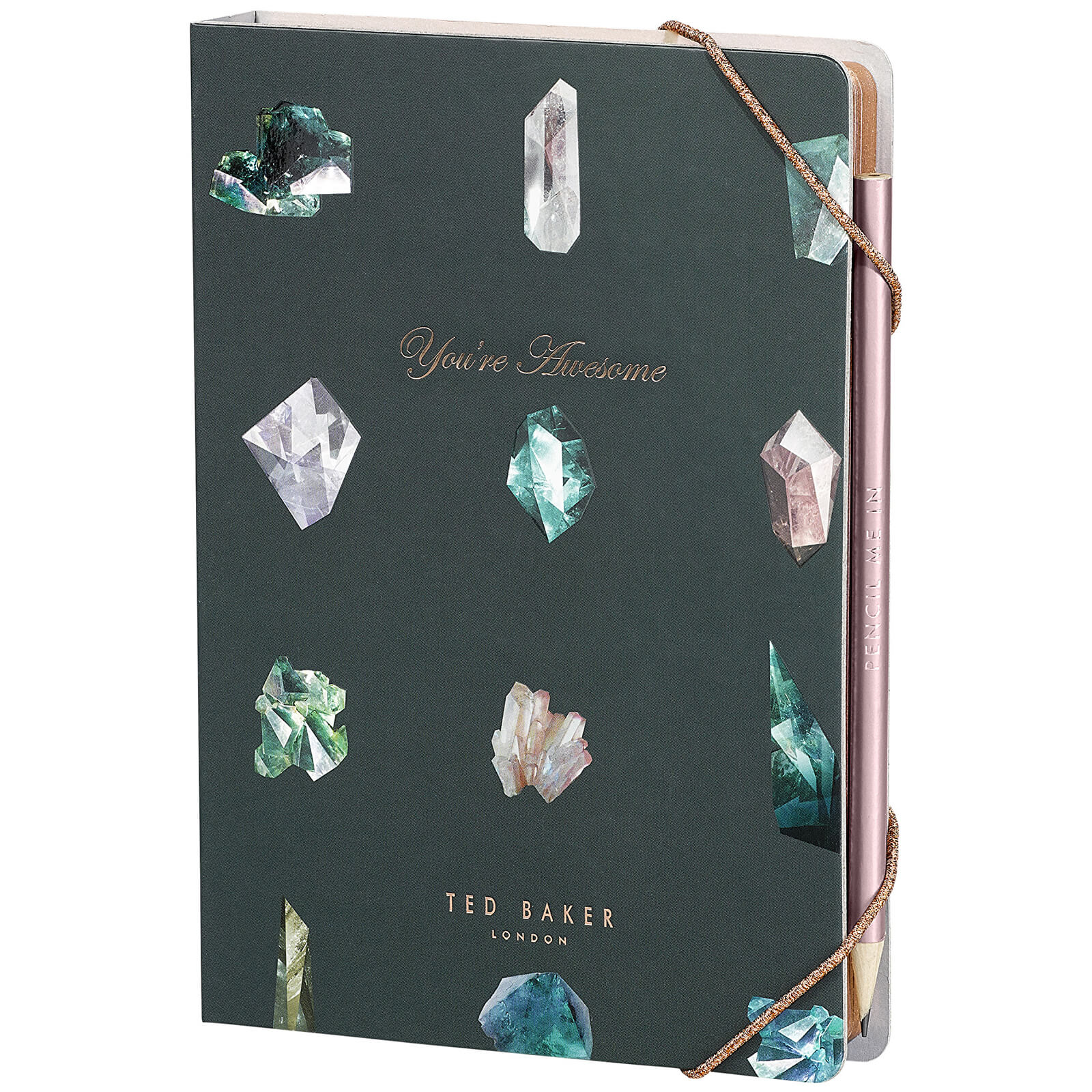 Ted Baker A5 Notebook with Sticky Notes - Linear Gem
