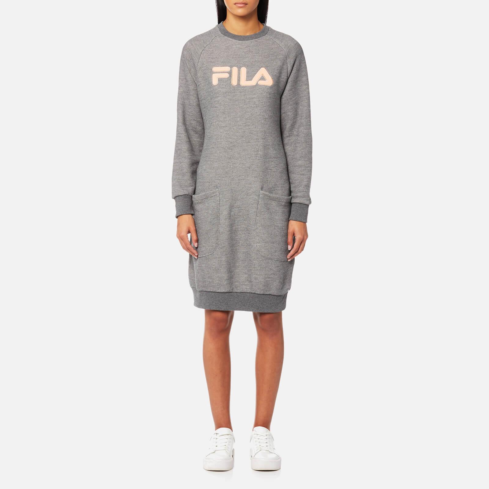 108ca8d610c5a FILA Blackline Women's Courtney Sweater Dress - Grey Marl - Free UK  Delivery over £50