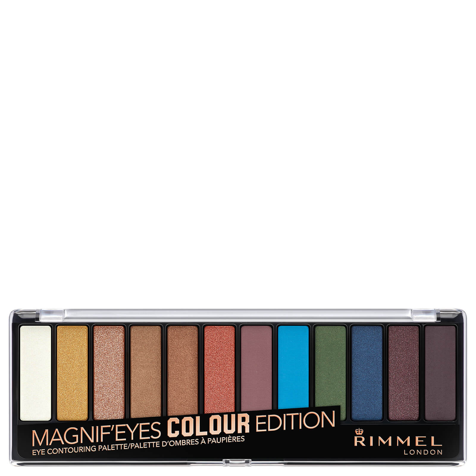 Rimmel 12 Pan Eyeshadow Palette - Bold Edition 14g