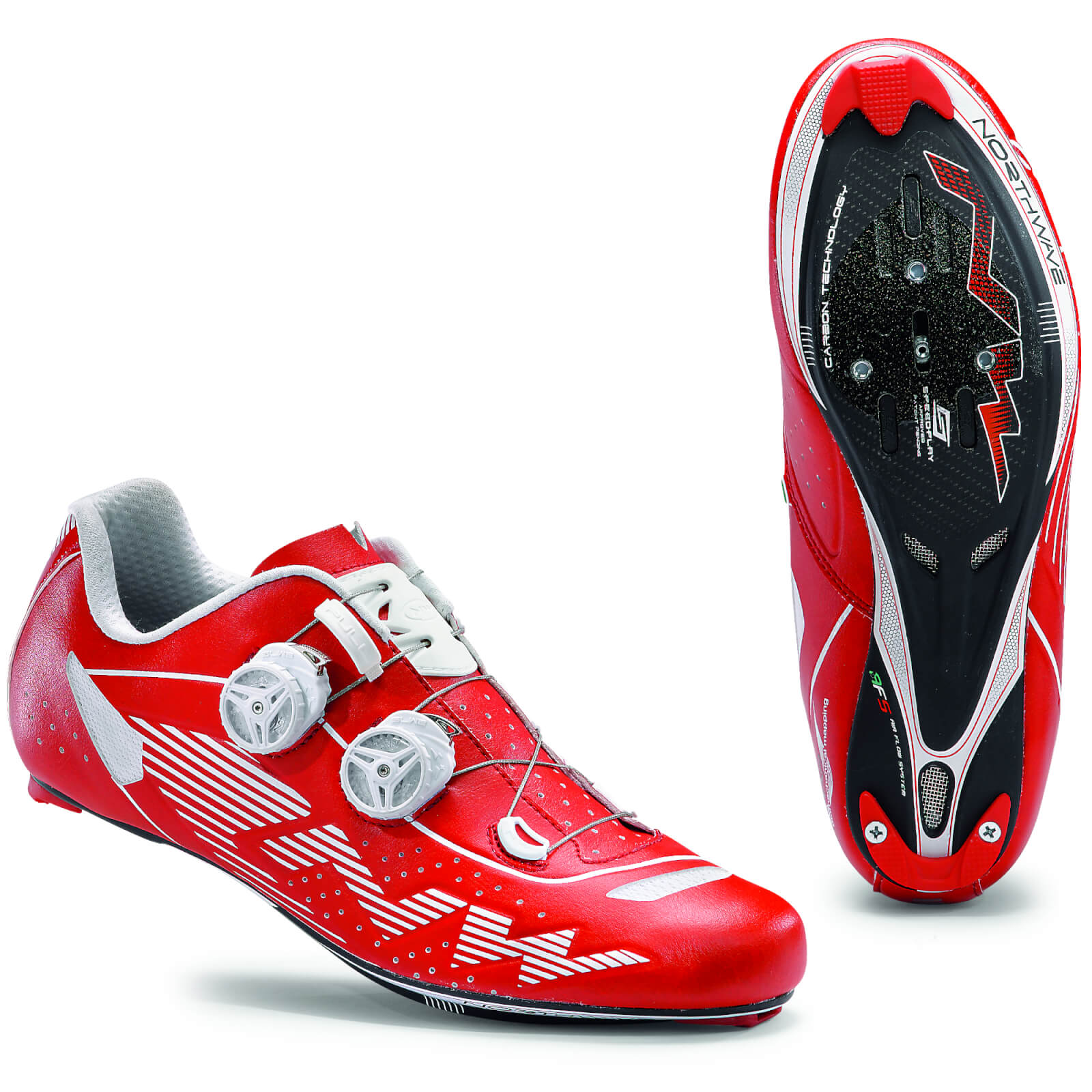 Northwave Evolution Plus Cycling Shoes - Red/White