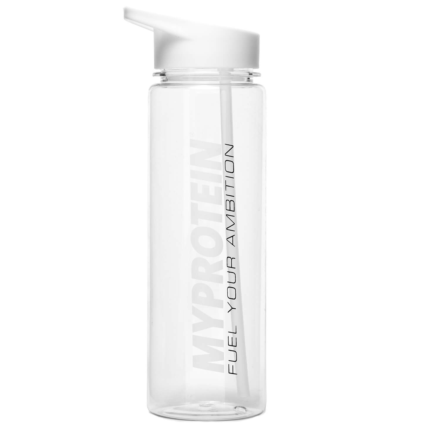 Straw Water Bottle - White