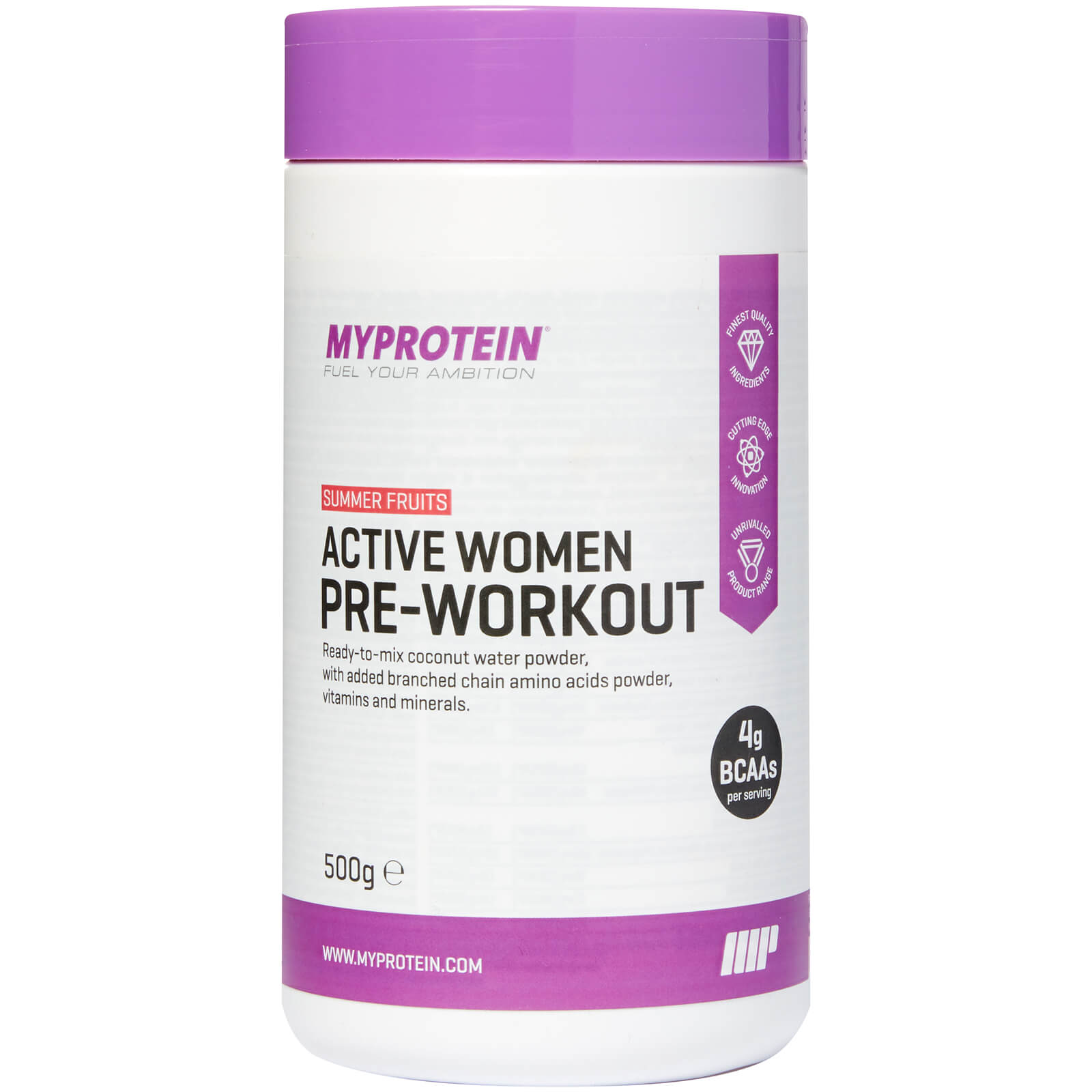 Active Women Pre-Workout, 500g, Summerfruits