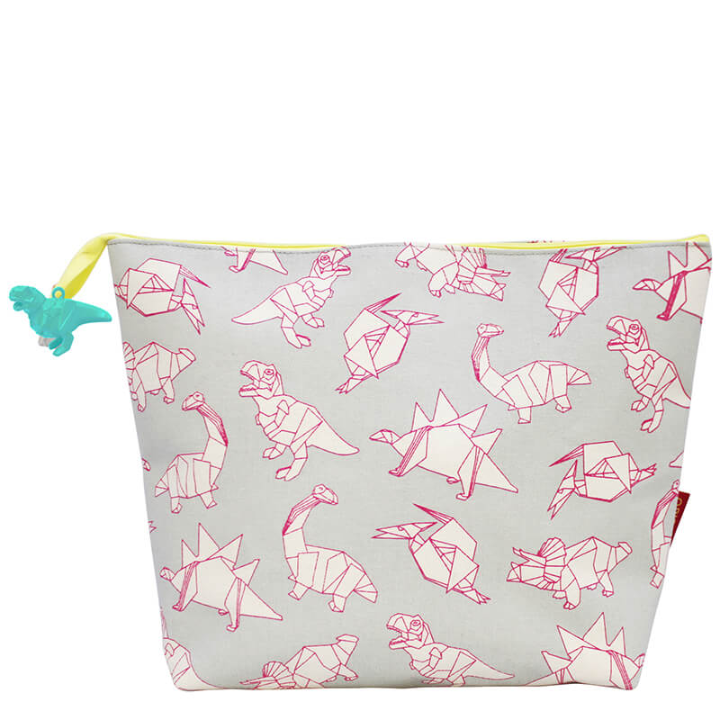 Origami Dinosaur Wash Bag