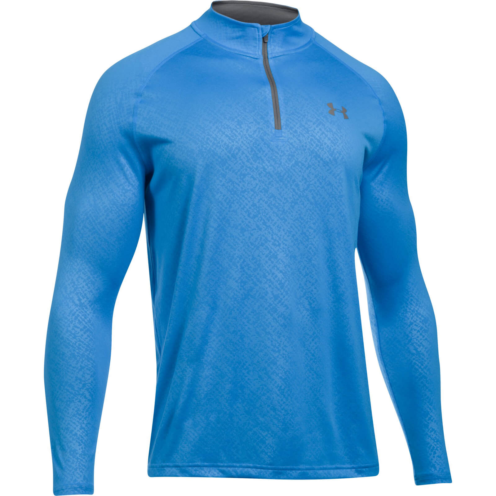 8fdf9ecdf Under Armour Men's Tech Emboss 1/4 Zip Long Sleeve Top - Blue Sports &  Leisure | TheHut.com
