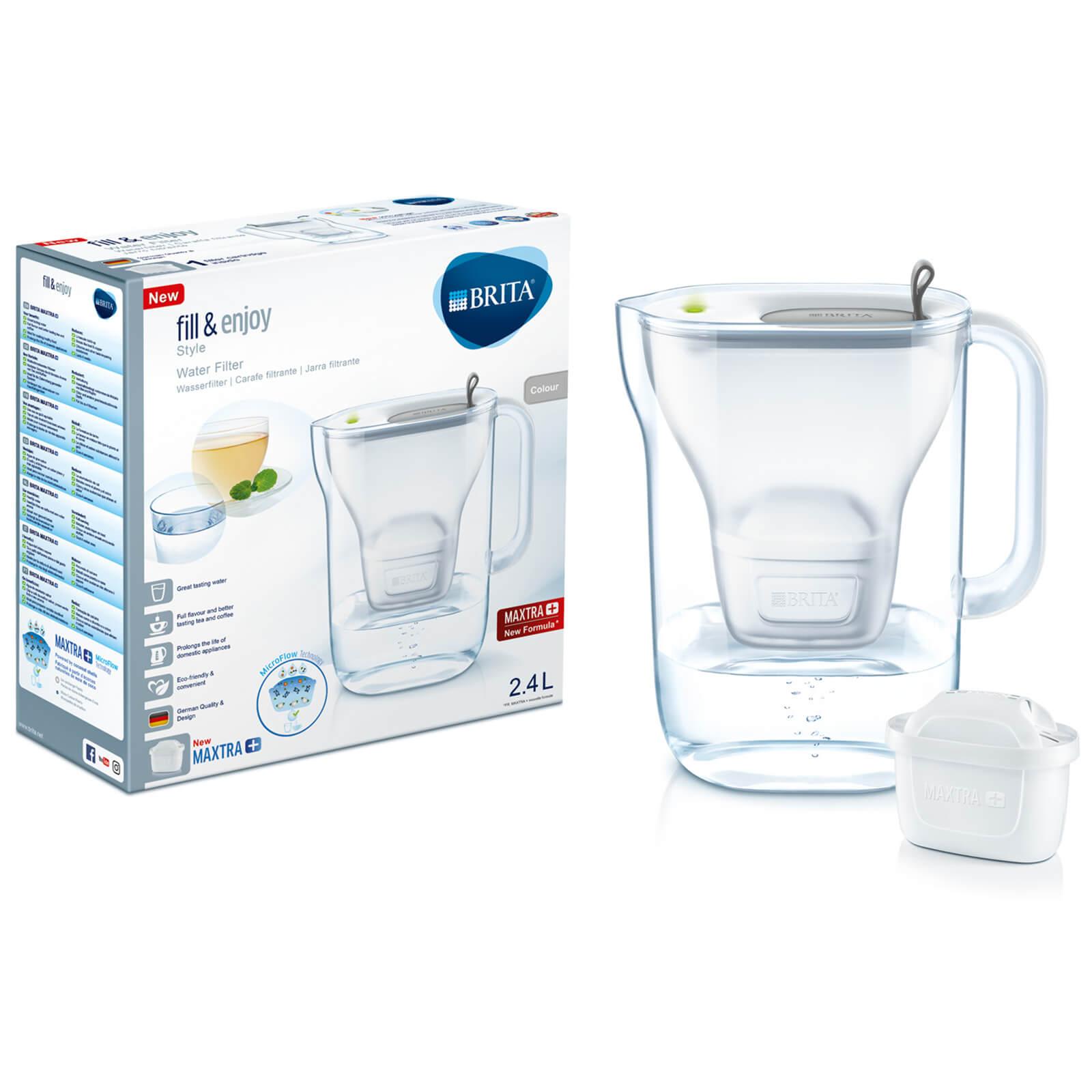BRITA Maxtra+ Style Cool Water Filter Jug - Grey