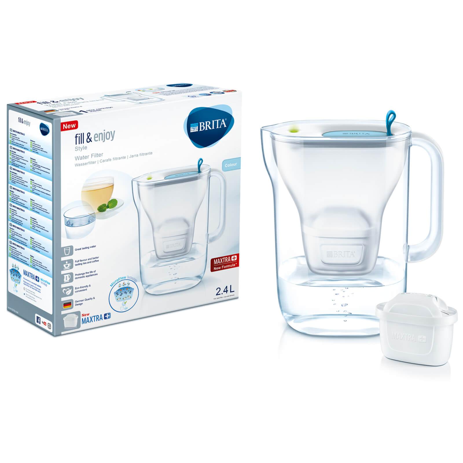 BRITA Maxtra+ Style Cool Water Filter Jug - Blue