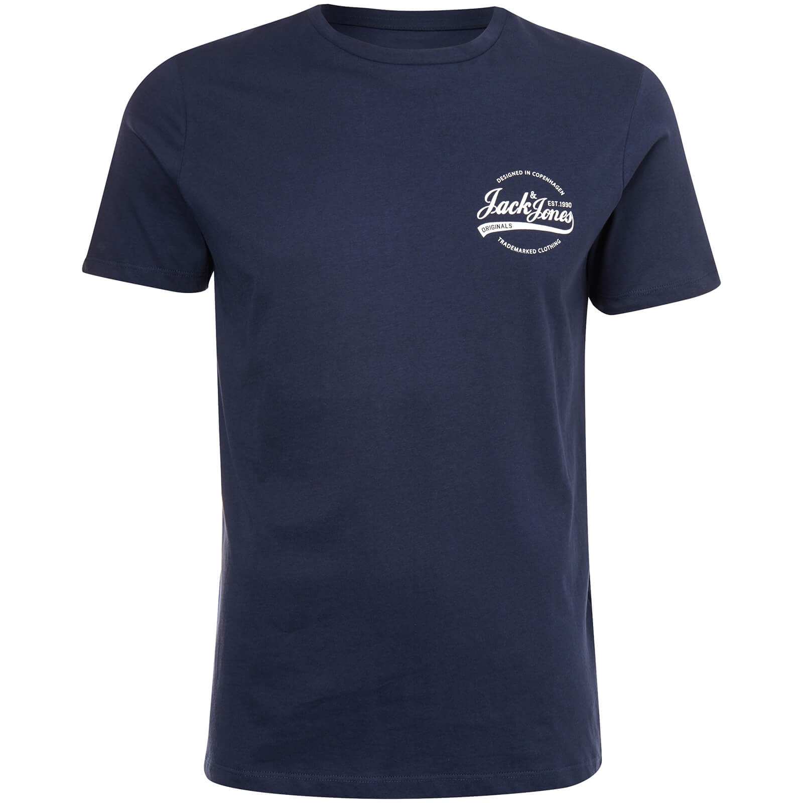 90e97bd44e41 Jack   Jones Originals Men s Raf Small Logo T-Shirt - Total Eclipse ...