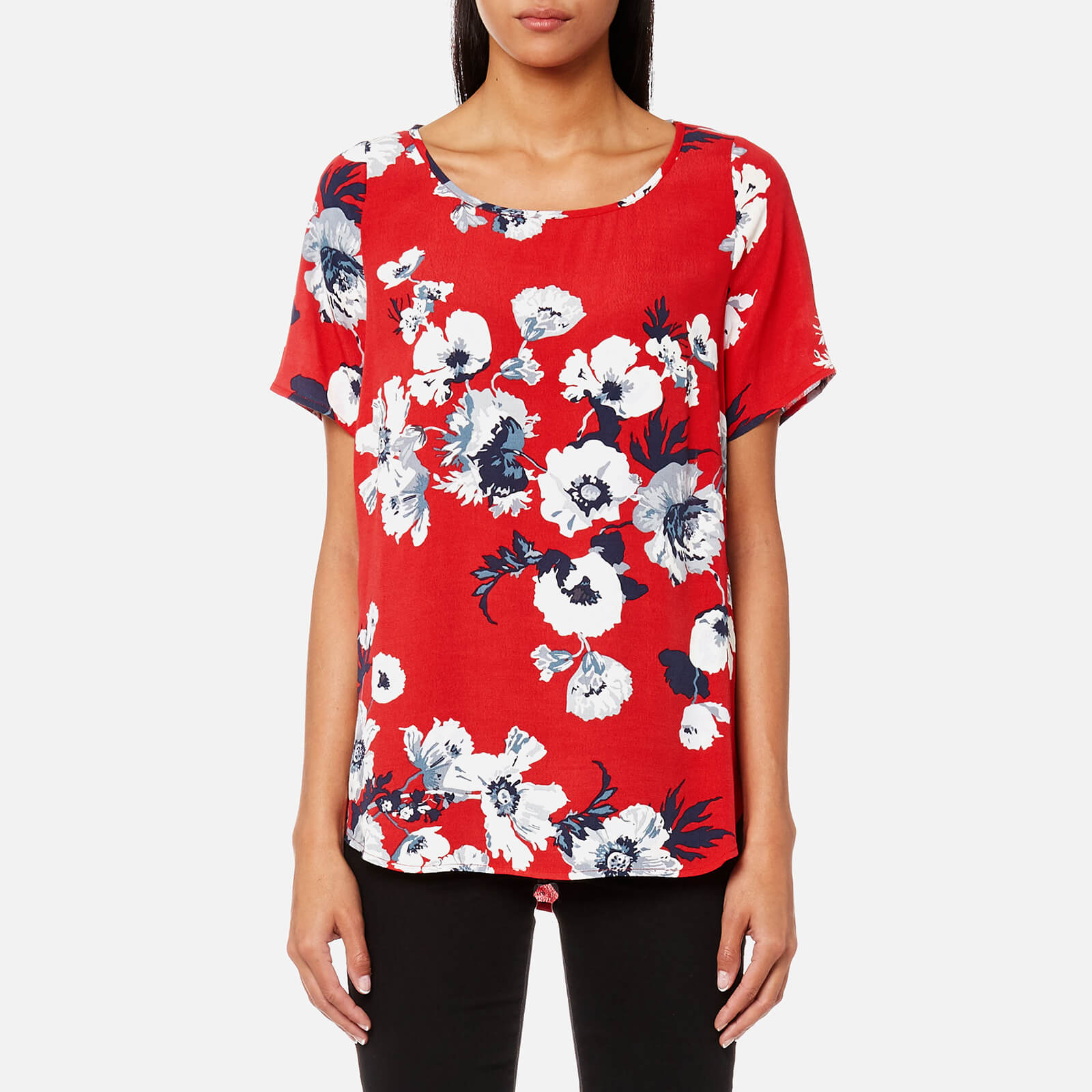 3a575c0b16a Joules Women's Hannah Printed Woven Shell Top - Red Posy