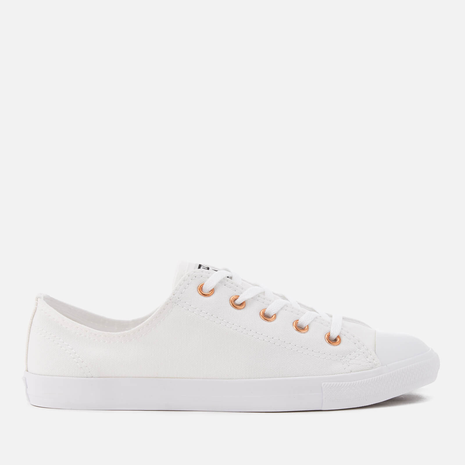 9832582bf8ca3 Converse Women's Chuck Taylor All Star Dainty Ox Trainers - White/White/Gold  | FREE UK Delivery | Allsole