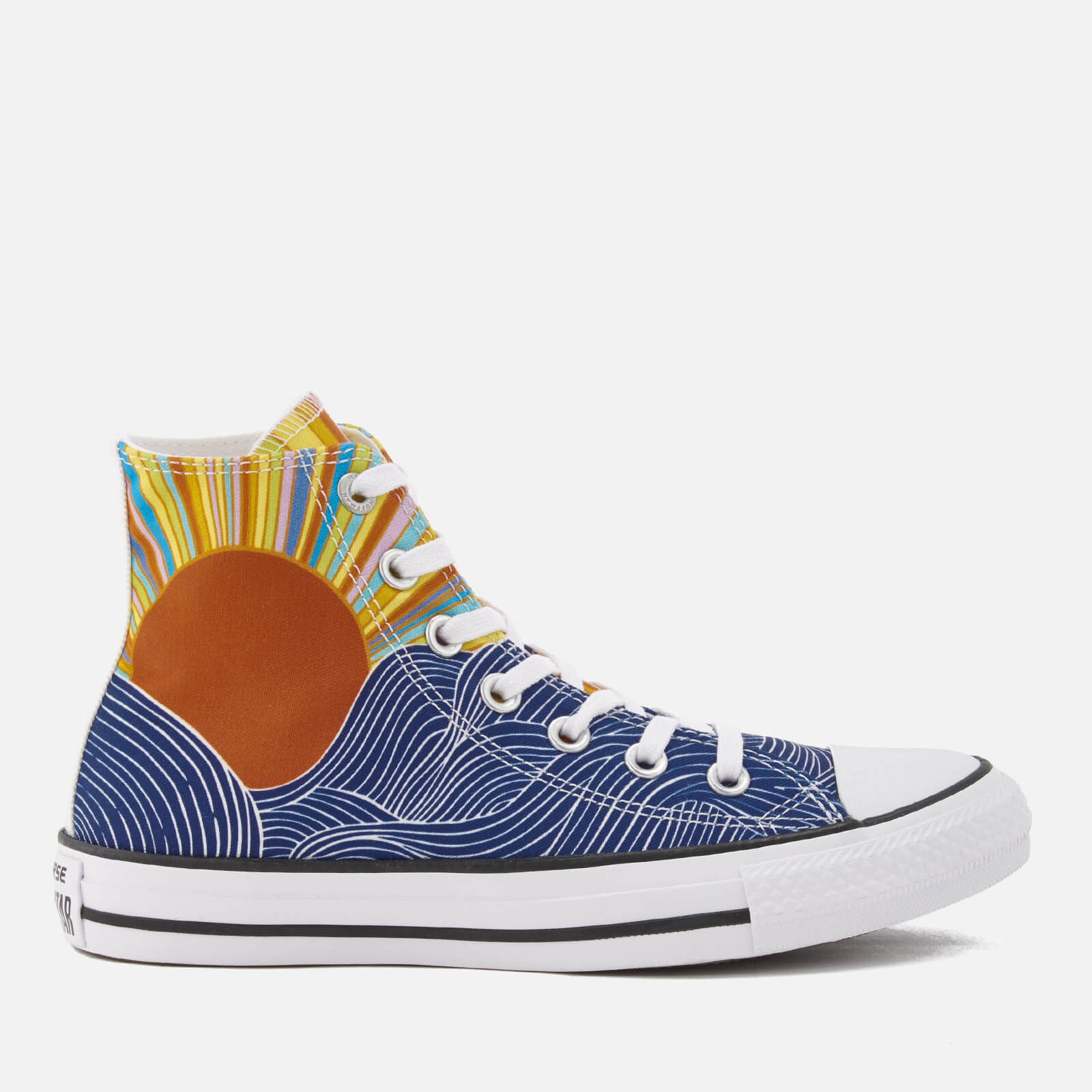 b41d995483f3 Converse X Mara Hoffman Women s Chuck Taylor All Star Hi-Top Trainers -  Patriot Blue Pink White - Free UK Delivery over £50
