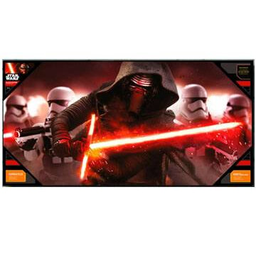 Star Wars Episode VII Glass Poster - Kylo Ren and Stormtroopers (50 x 25cm)