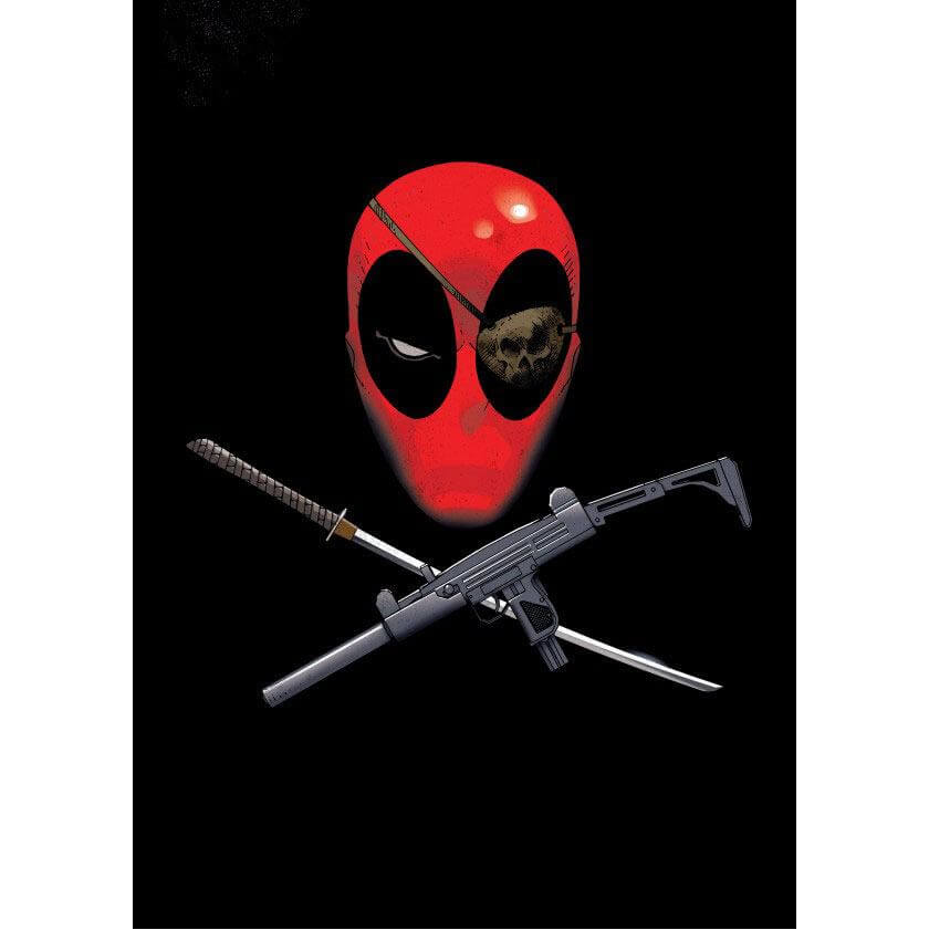 Marvel Comics Metal Poster - Deadpool Merc with a Mouth Piratepool (68 x 48cm)