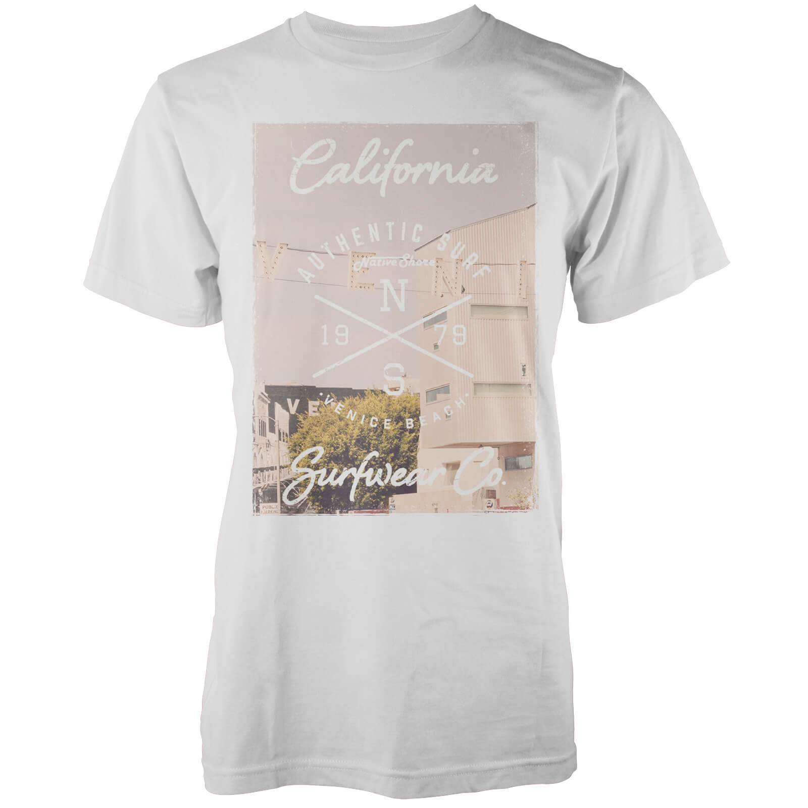 Camiseta Native Shore Venice Beach - Hombre - Blanco