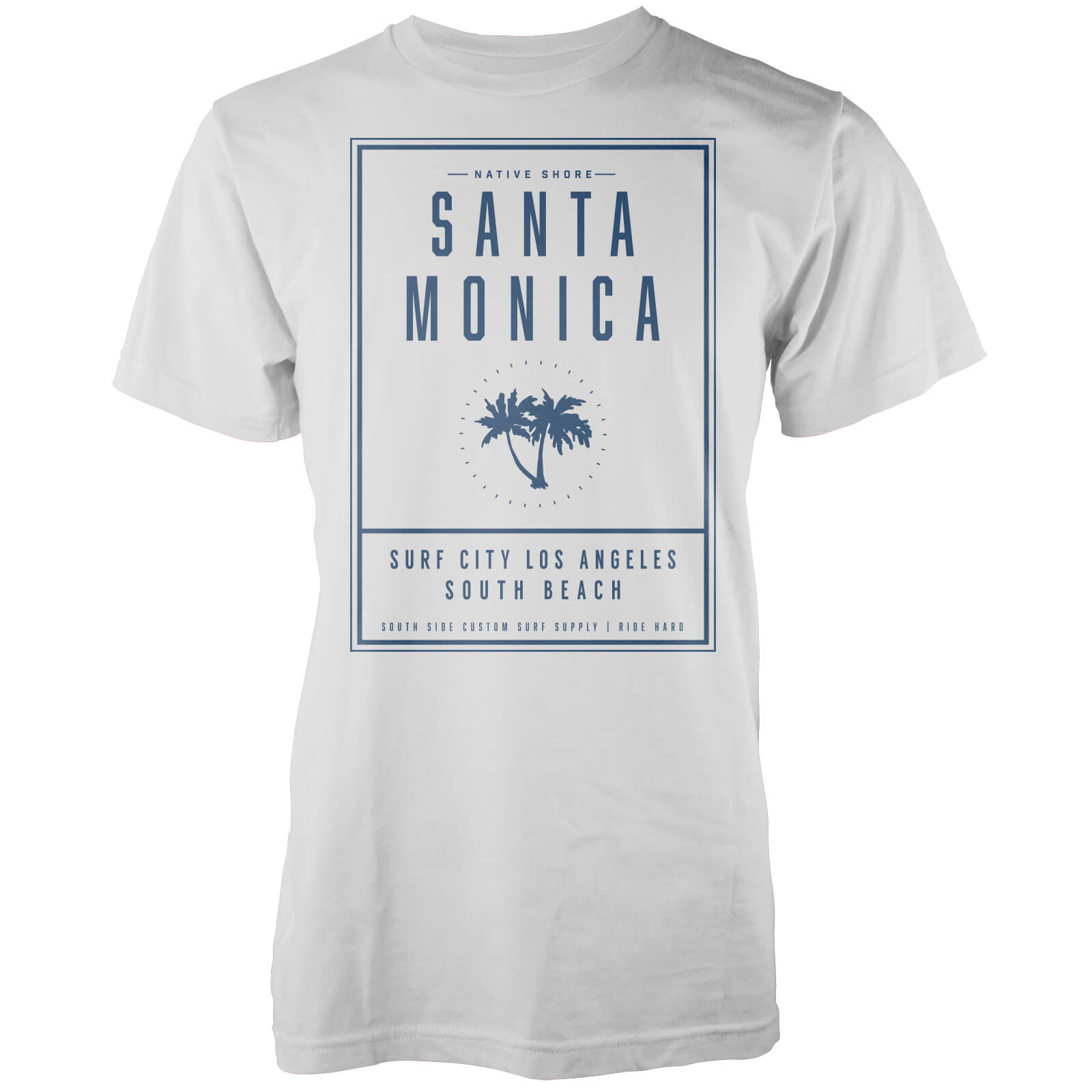 T-Shirt Homme Santa Monica LA Native Shore - Blanc