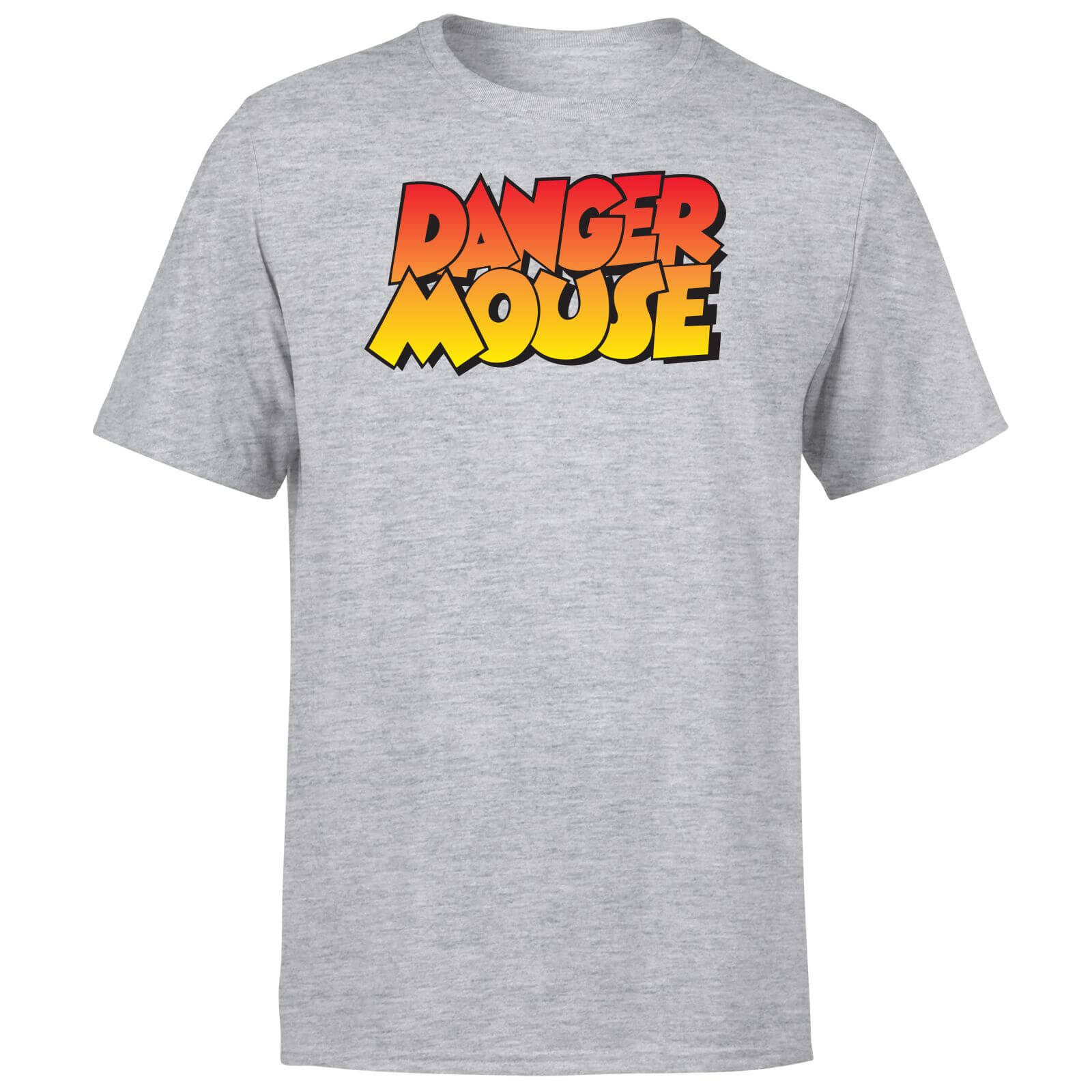 Danger Mouse Four Colour Logo T-Shirt - Grey