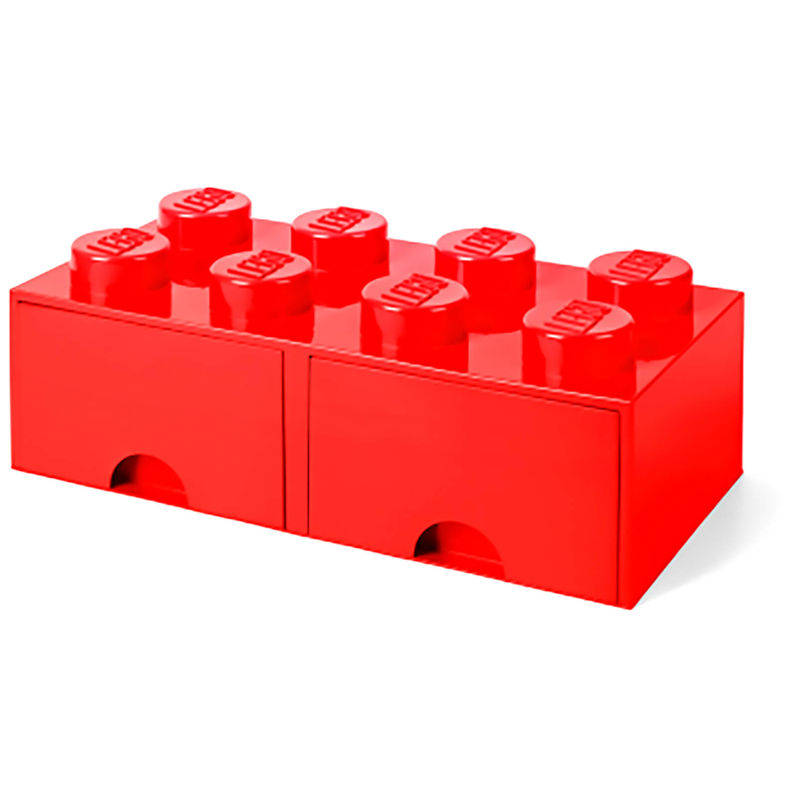 lego storage 8 knob brick 2 drawers bright red iwoot. Black Bedroom Furniture Sets. Home Design Ideas