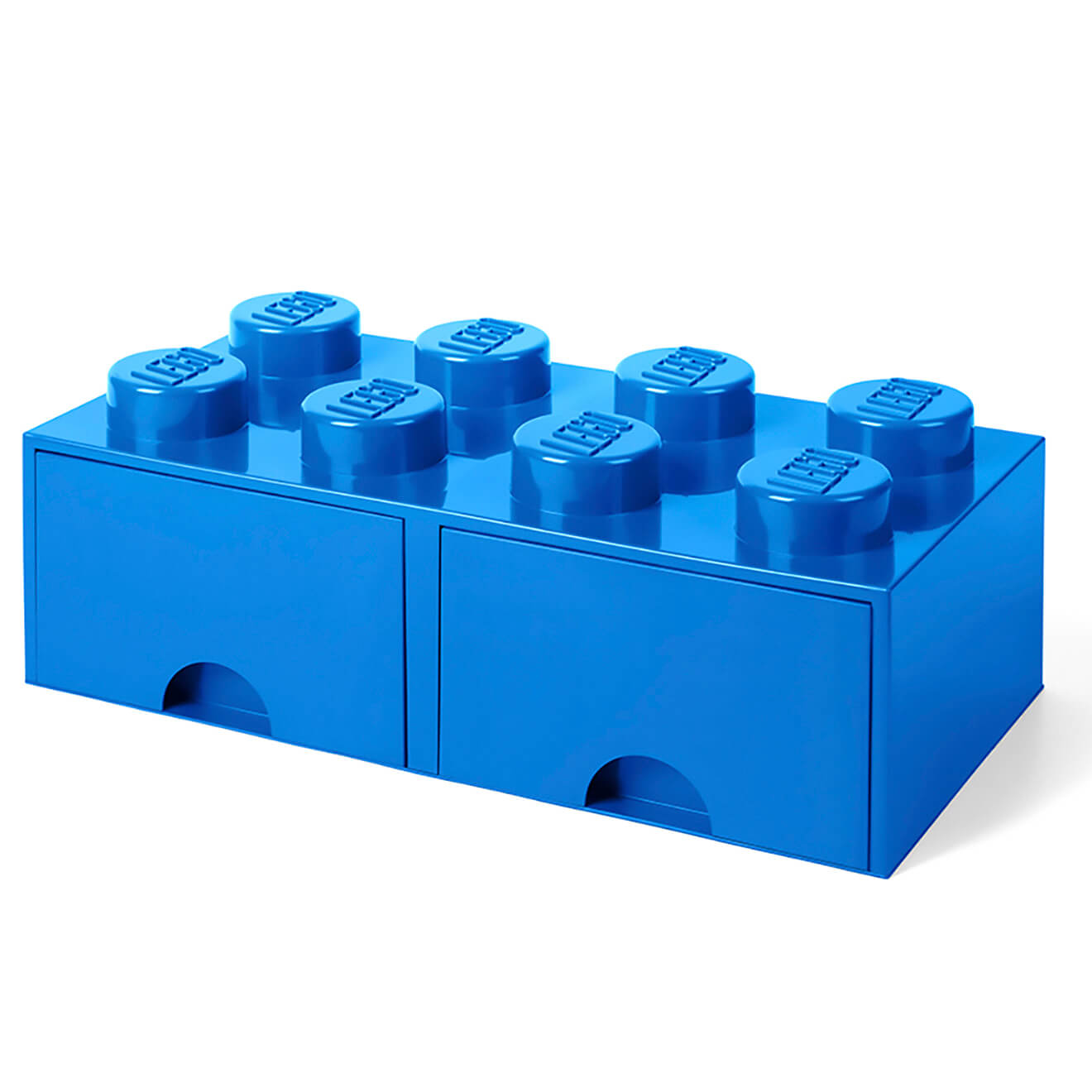 lego storage 8 knob brick 2 drawers bright blue iwoot. Black Bedroom Furniture Sets. Home Design Ideas