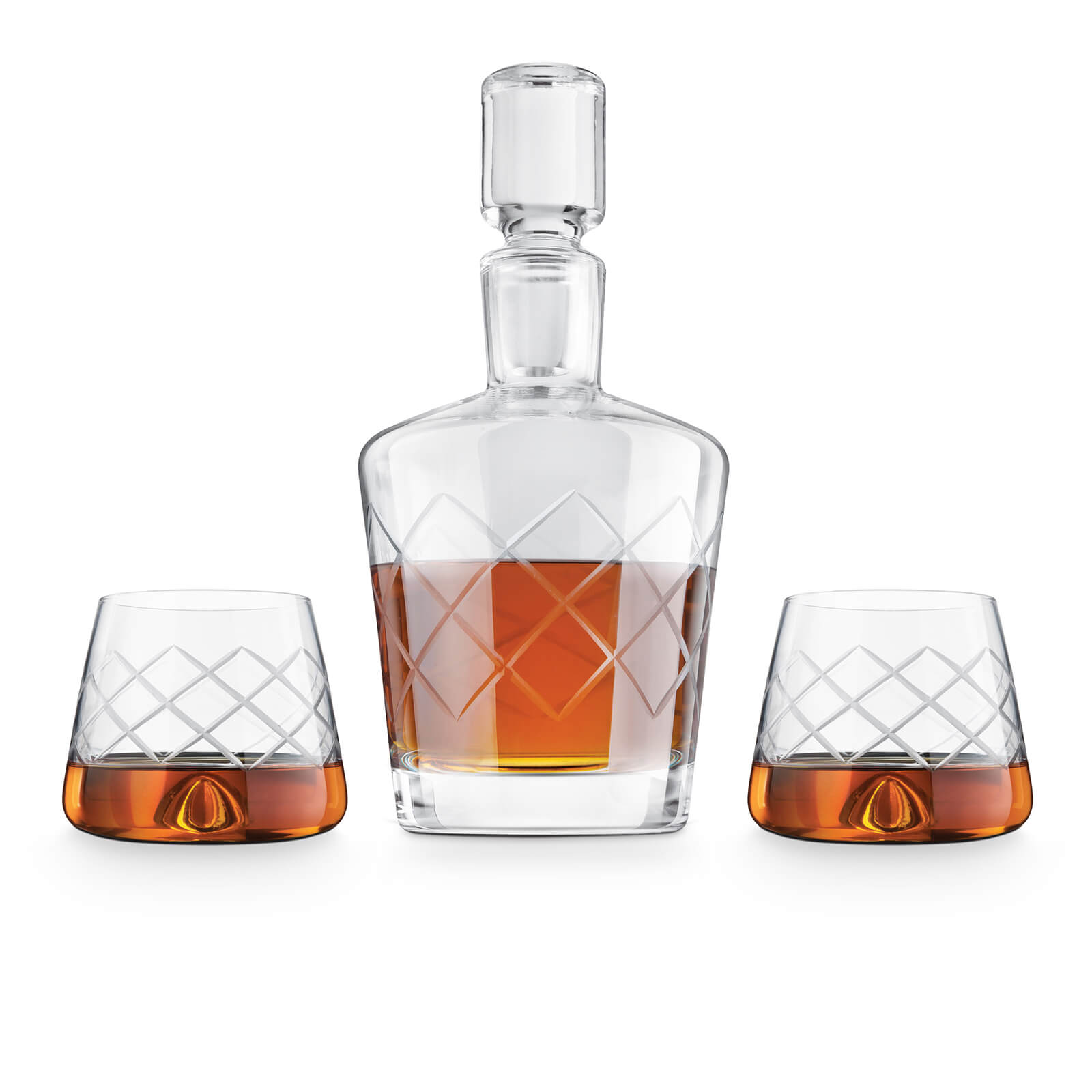 Final Touch Crystal Whiskey Decanter and Glasses Set