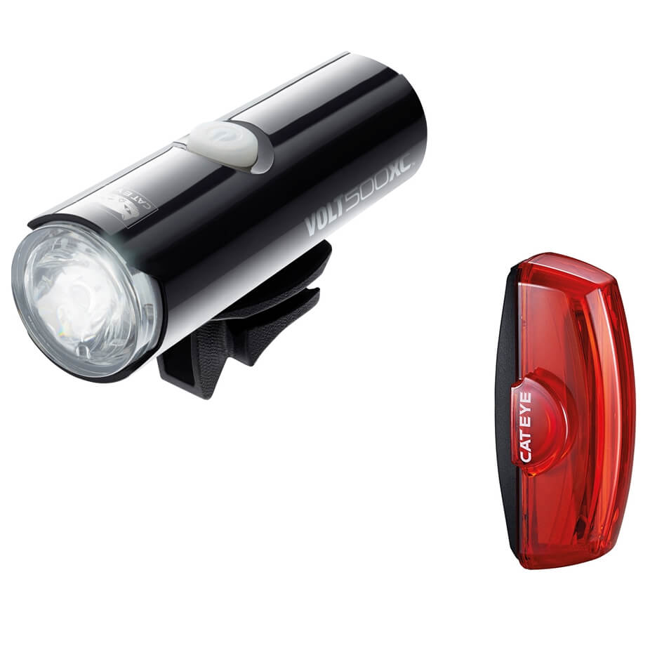 Cateye Volt XC Front and Rapid X2 Rear Light Set