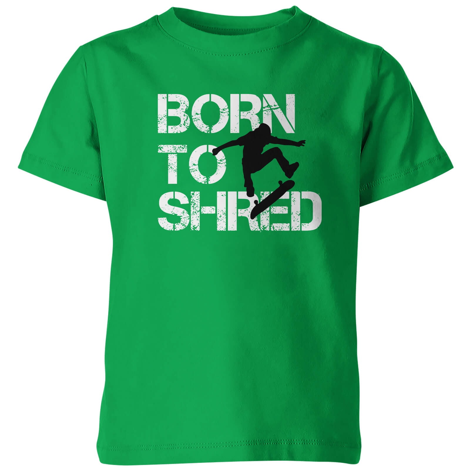 Kids Born to Shred Green T-Shirt