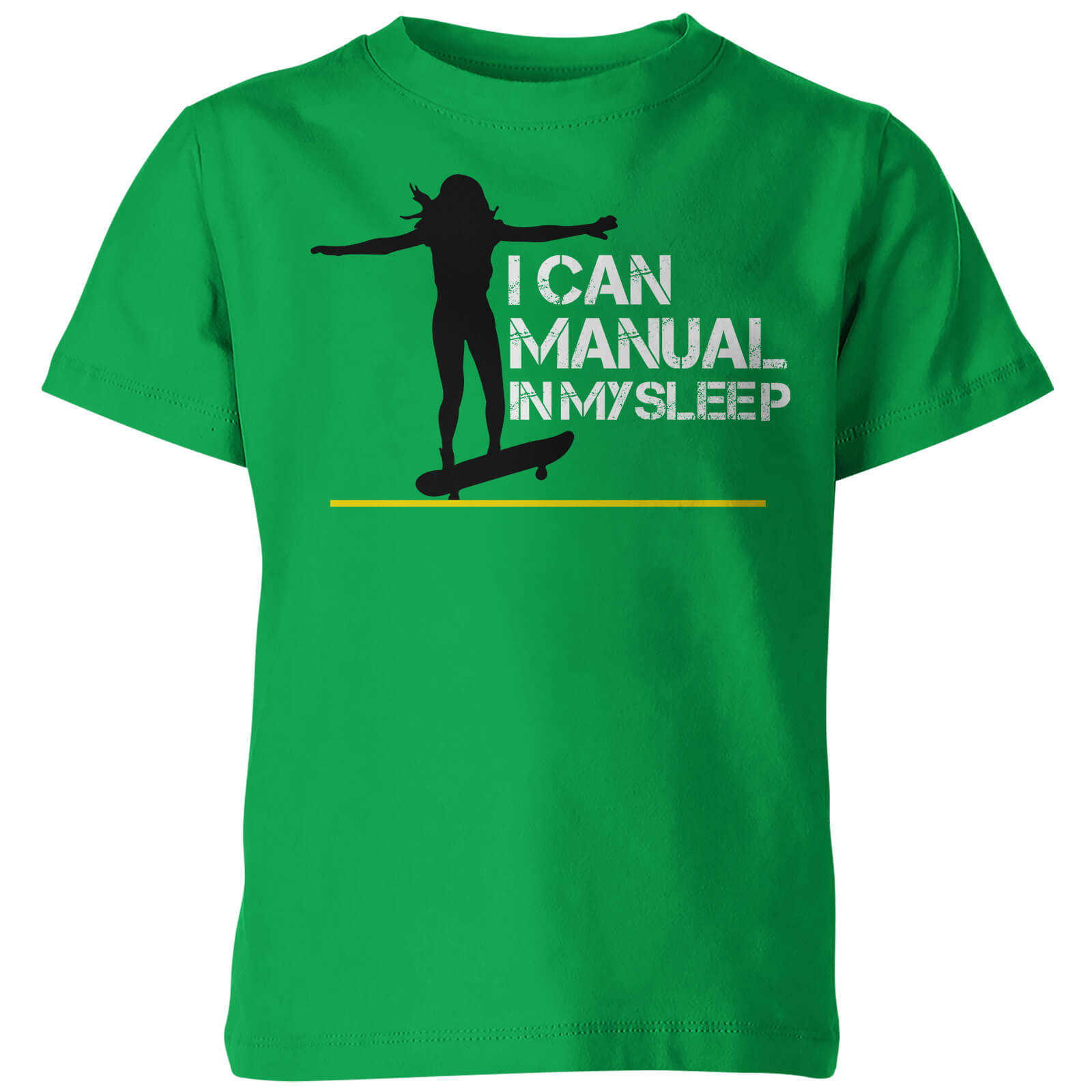 Kids I Can Manual in My Sleep Green T-Shirt