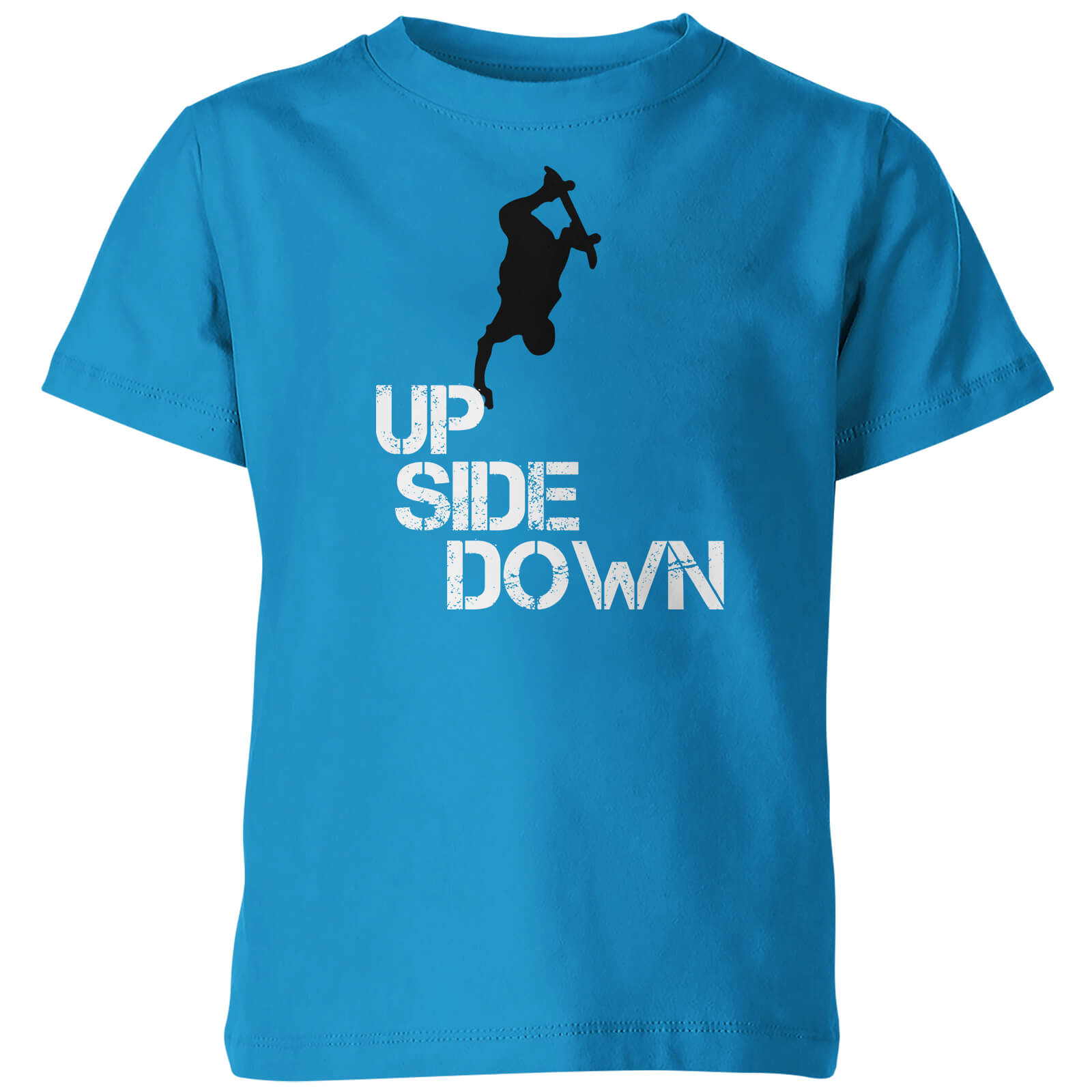 Kids Up Side Down Blue T-Shirt