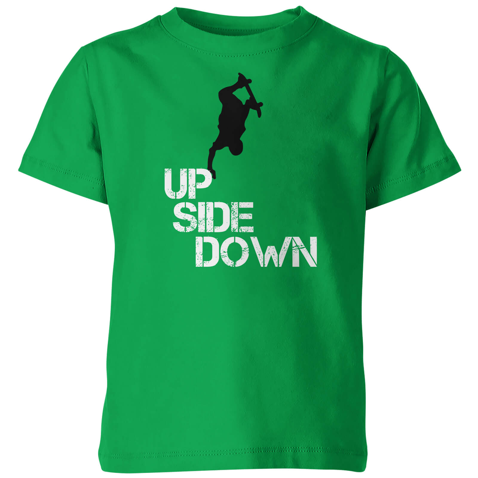 Kids Up Side Down Green T-Shirt