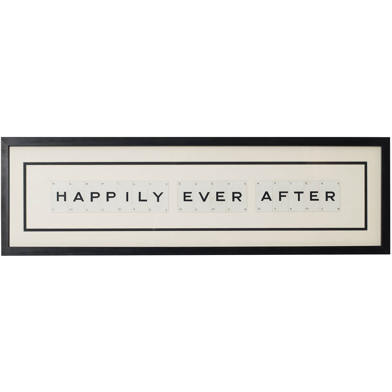 Vintage Playing Cards Happily Ever After Framed Wall Art