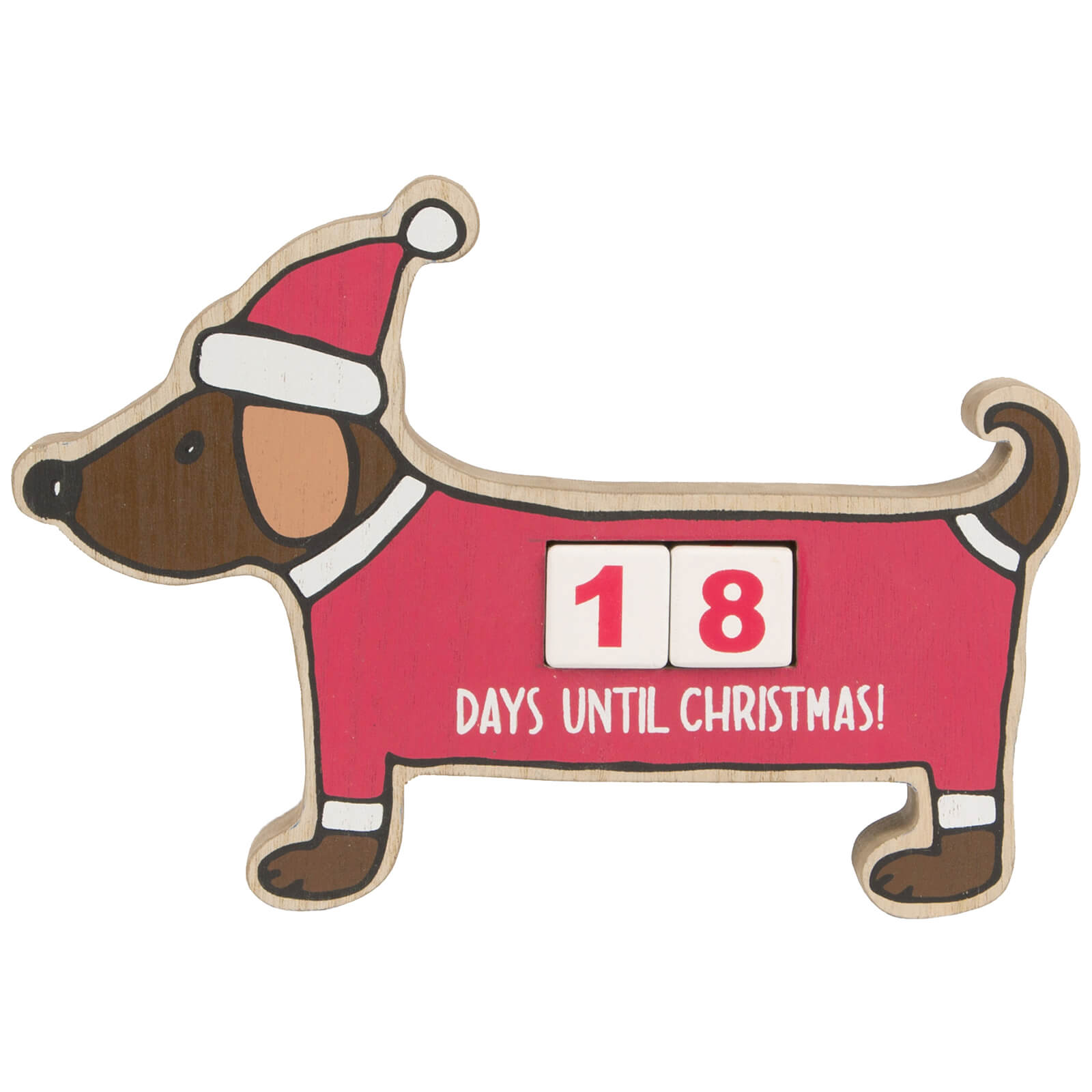 Sass & Belle Christmas Dachshund Advent Calendar Block