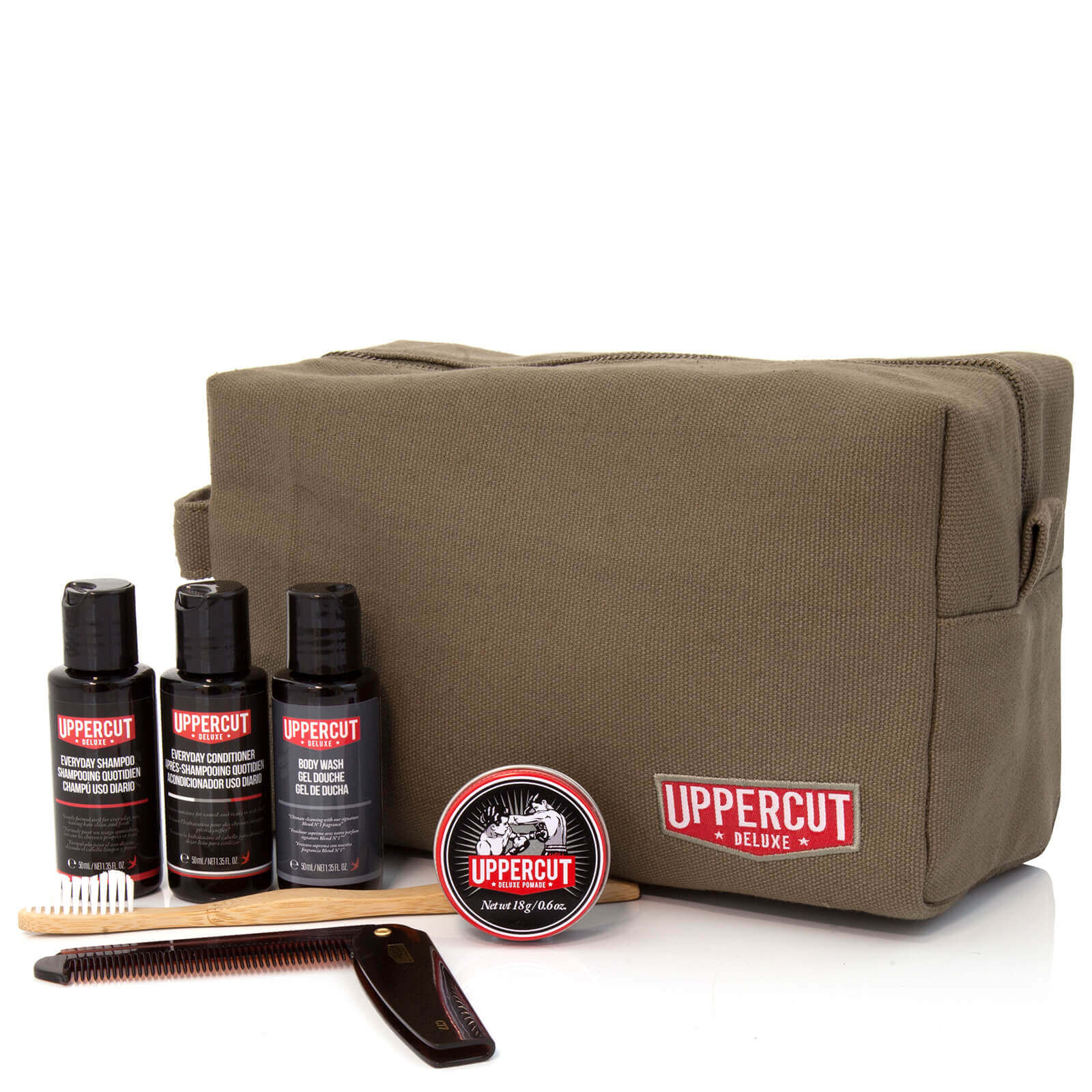 d4e5b8e9f163a Uppercut Deluxe Wash Bag - Filled Army Green (Worth £48.00)