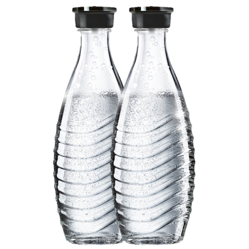 SodaStream Crystal Carbonating Glass Carafe 600ml (Set of 2)