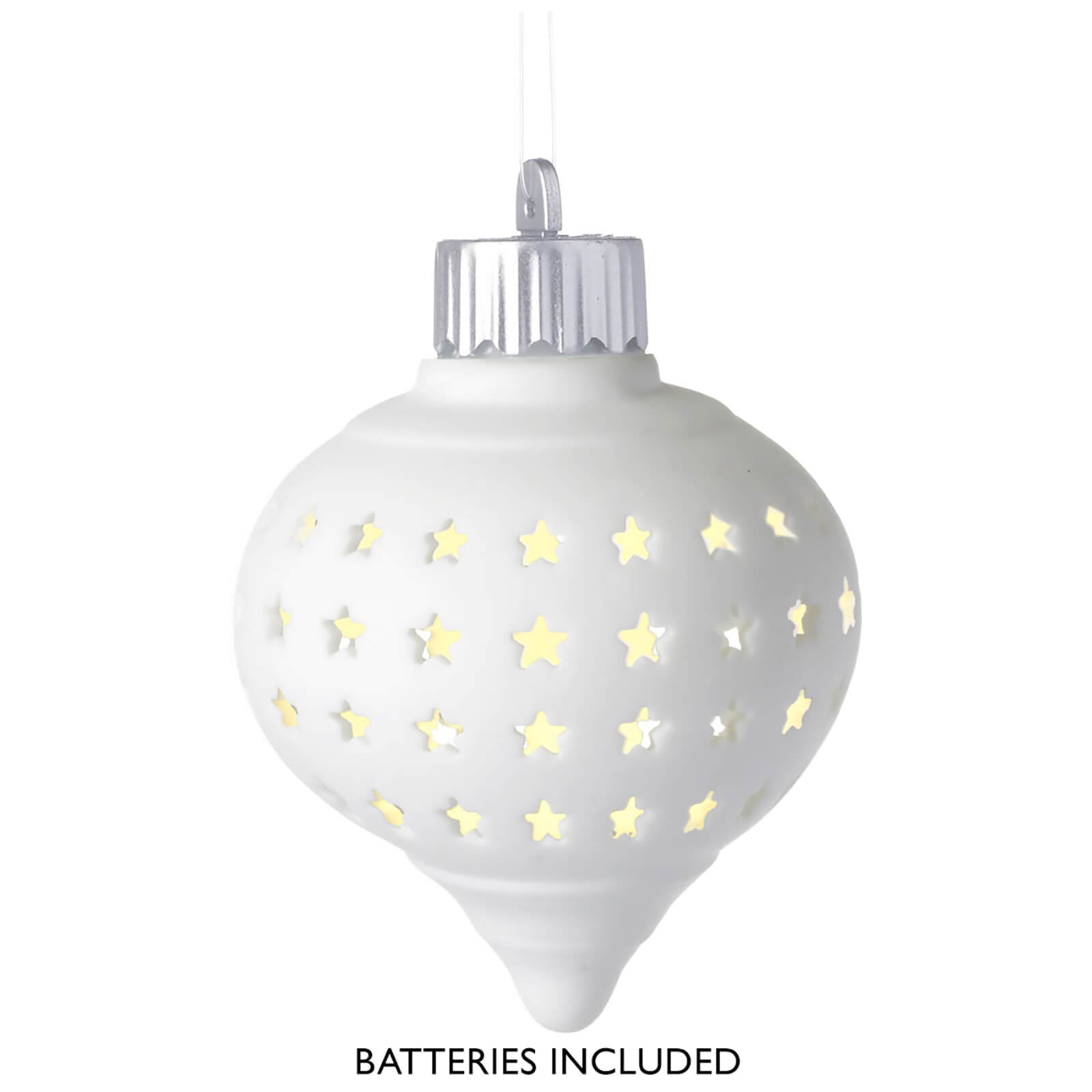 Parlane LED Porcelain Hanging Decoration - White Star