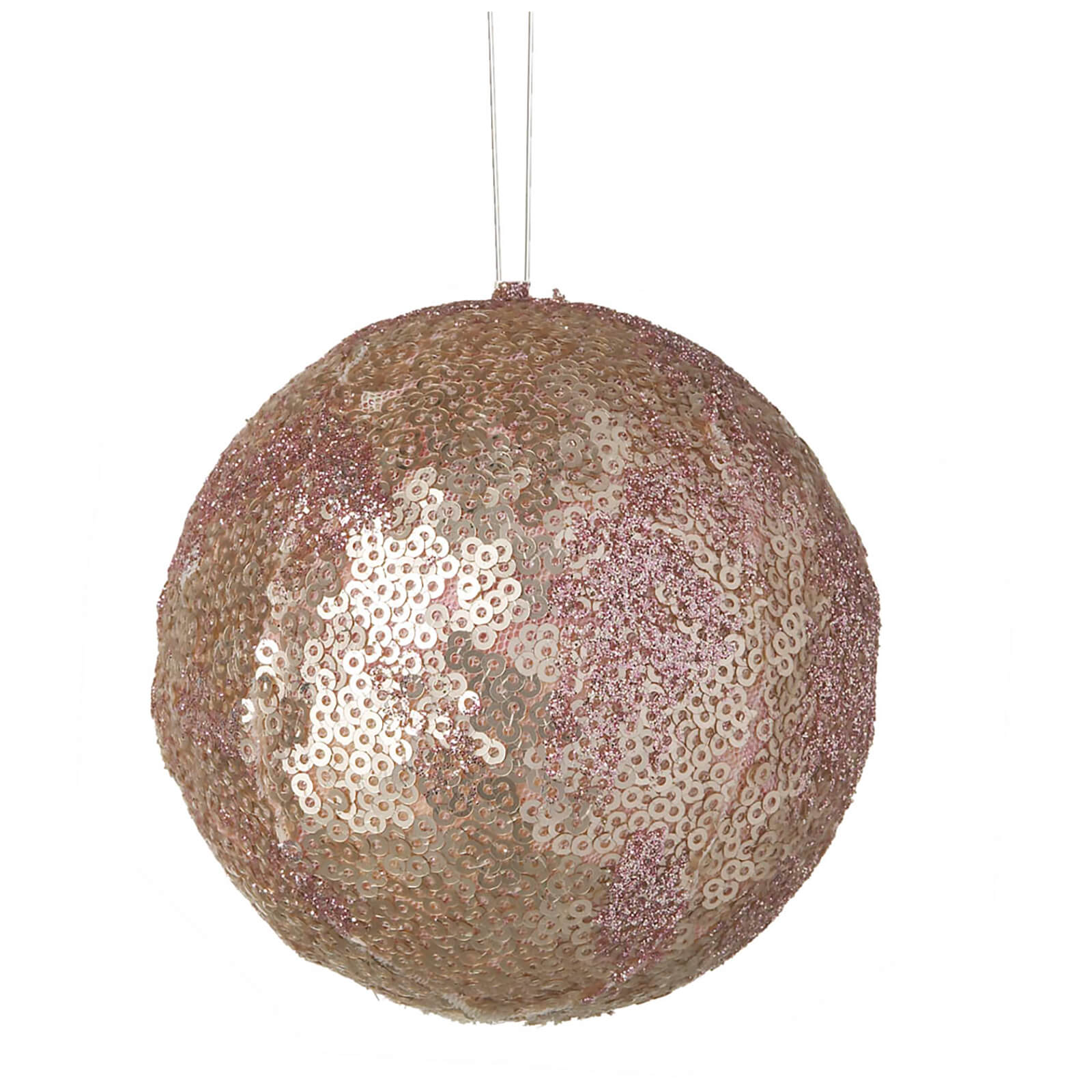 Parlane Sequin Hanging Decoration (10 x 10cm) - Pink Bauble
