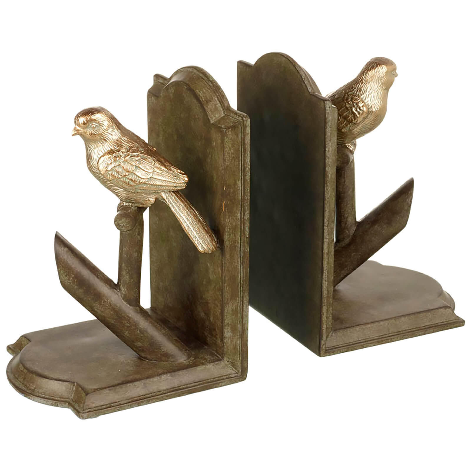 Parlane Birdie Bookends (19 x 27cm) - Gold