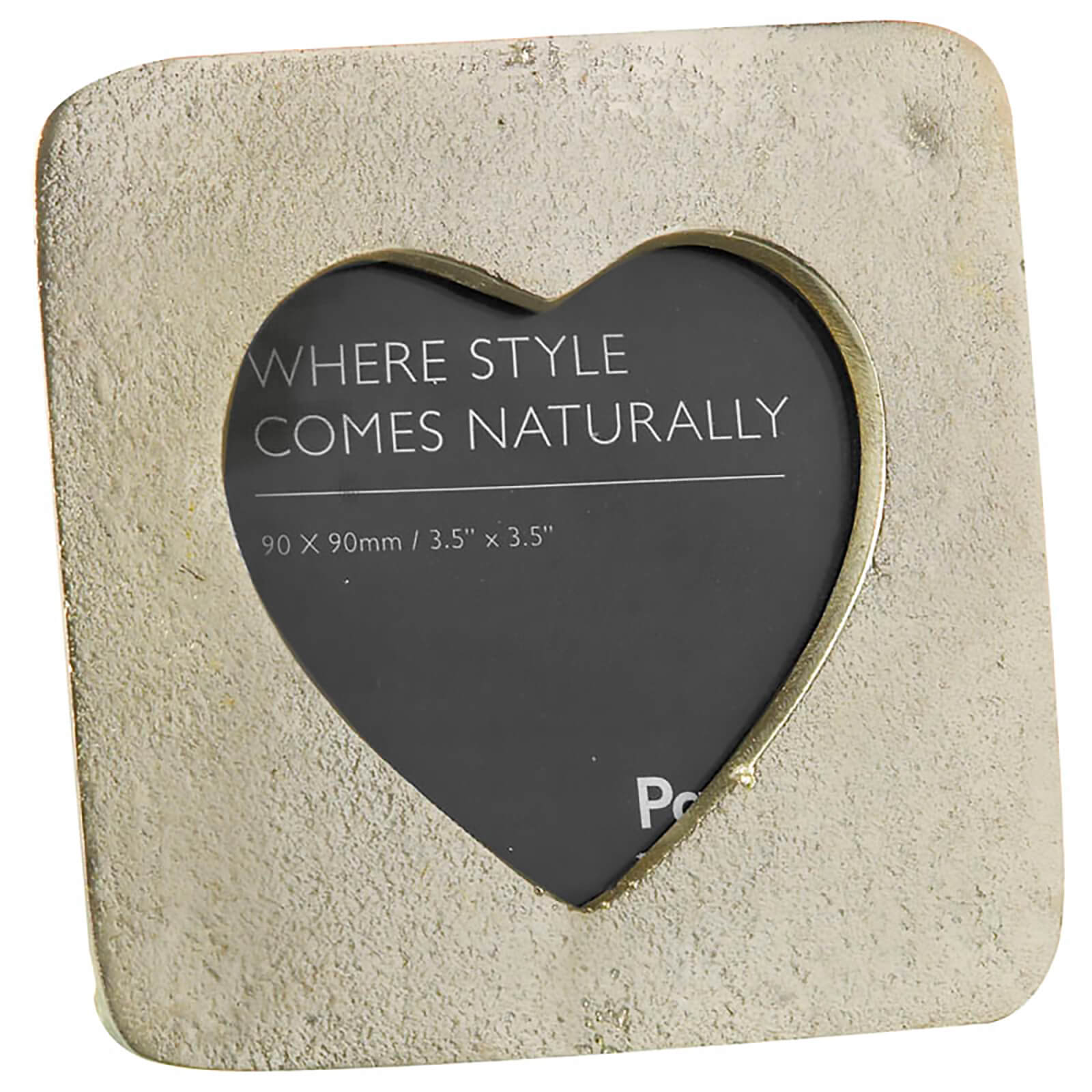 Parlane Heart Aluminium Photo Frame (12 x 12cm) - Champagne Gold