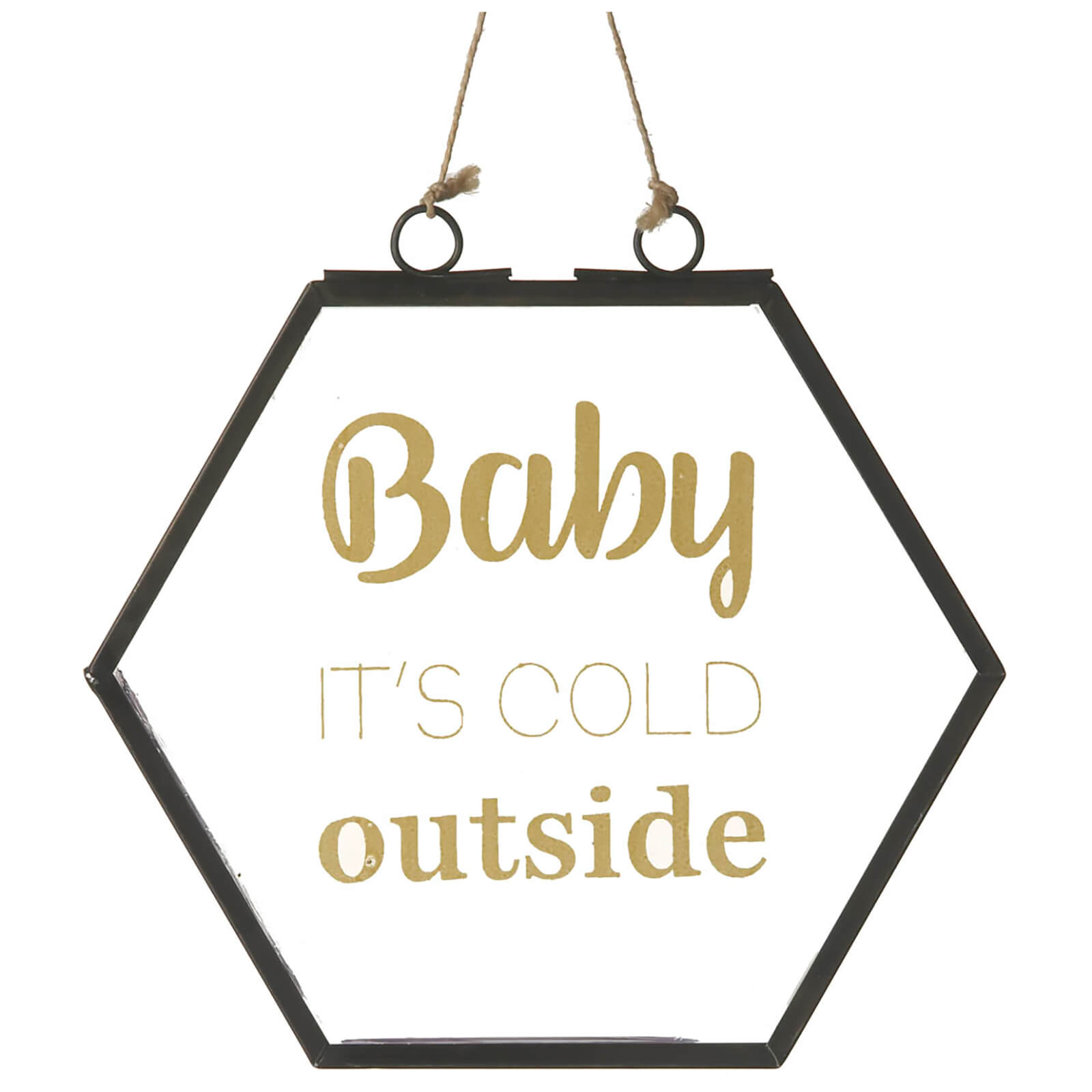 Parlane Cold Outside Glass Hanging Sign (16.5 x 16.5cm)