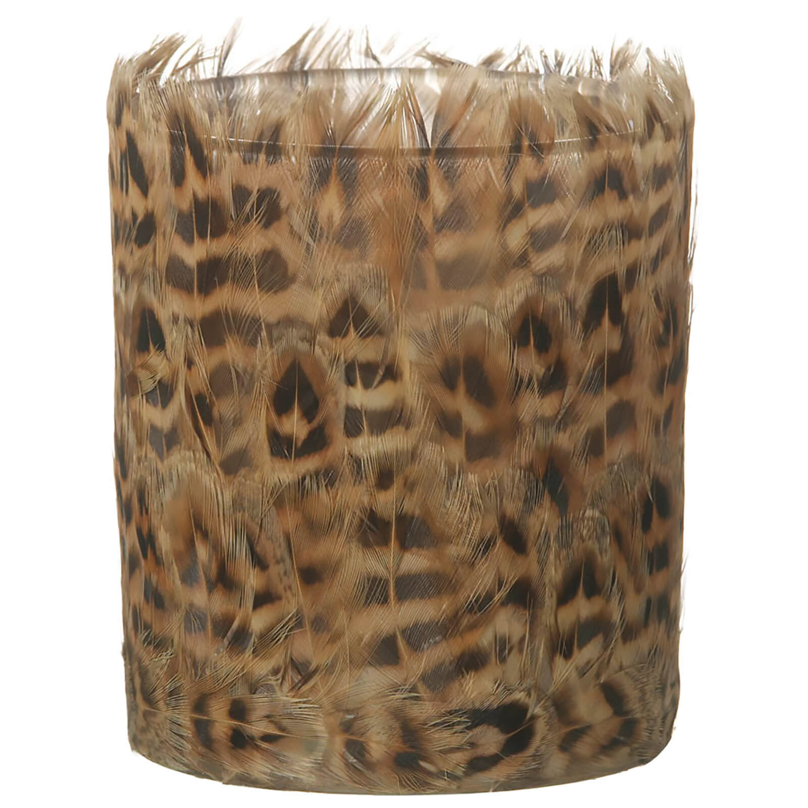 Parlane Feather Tealight Holder (10 x 8cm) - Brown