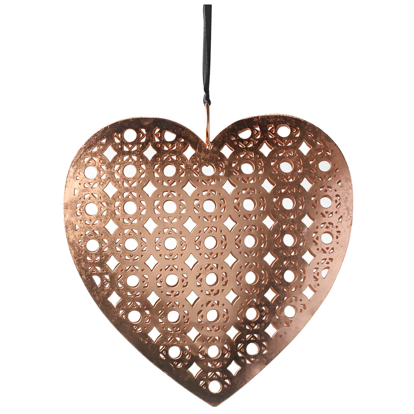 Parlane Metal Heart Hanging Decoration (15 x 15cm) - Copper
