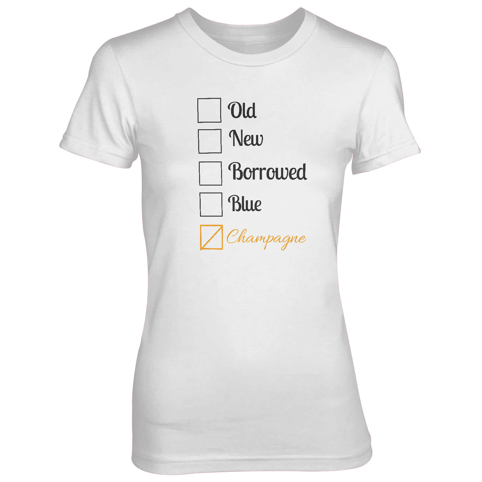 Old New Borrowed Blue Champagne Women