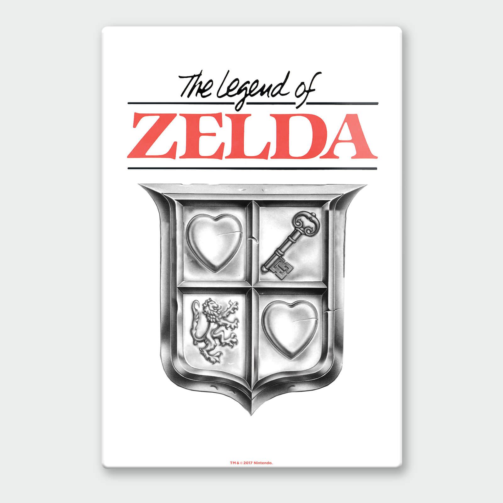 Nintendo Legend of Zelda Chromalux High Gloss Metal Poster