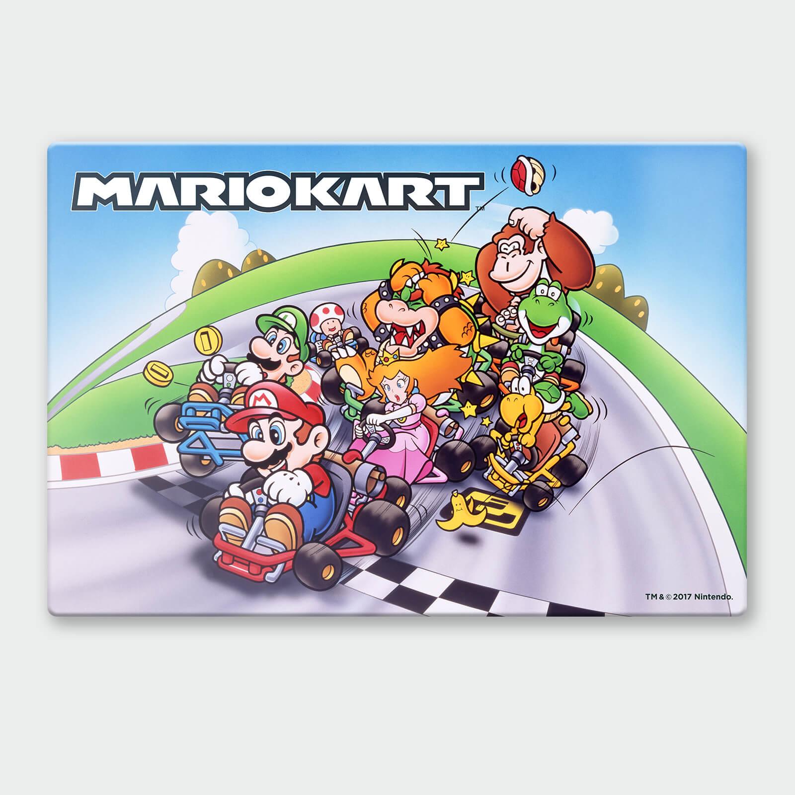 Nintendo Mario Kart 2 Chromalux High Gloss Metal Poster