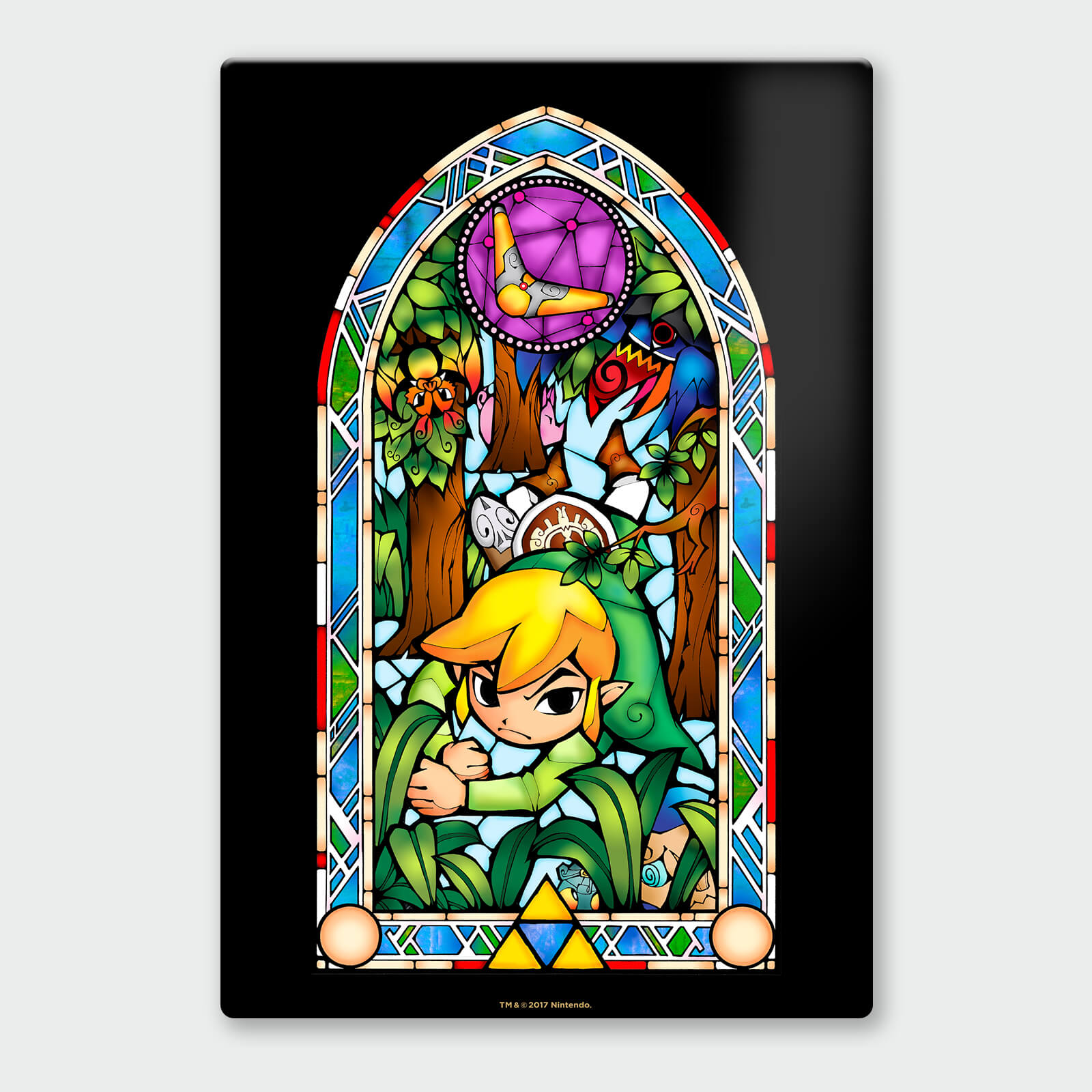 Nintendo Legend of Zelda Boomerang Chromalux High Gloss Metal Poster