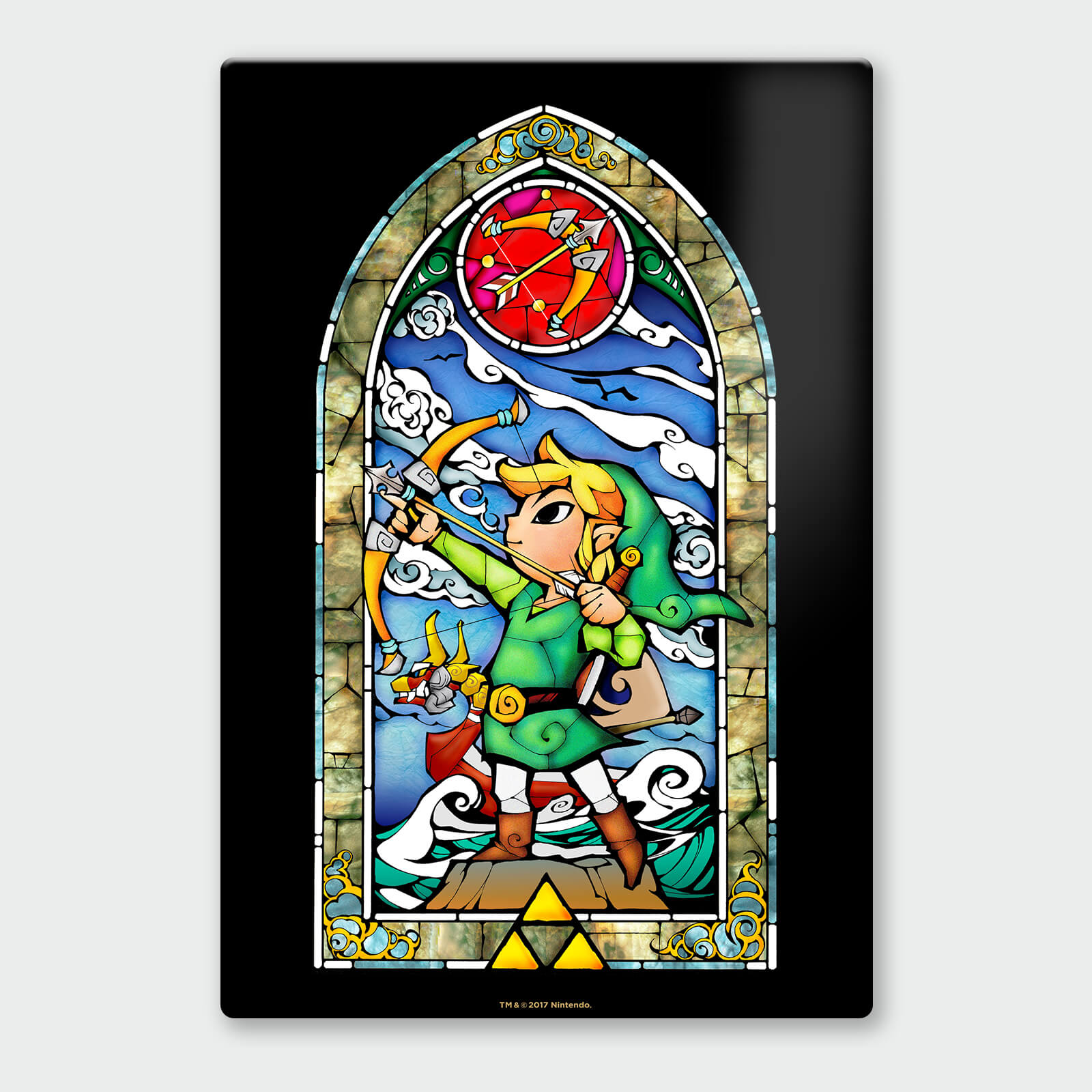 Nintendo Legend of Zelda Bow and Arrow Chromalux High Gloss Metal Poster