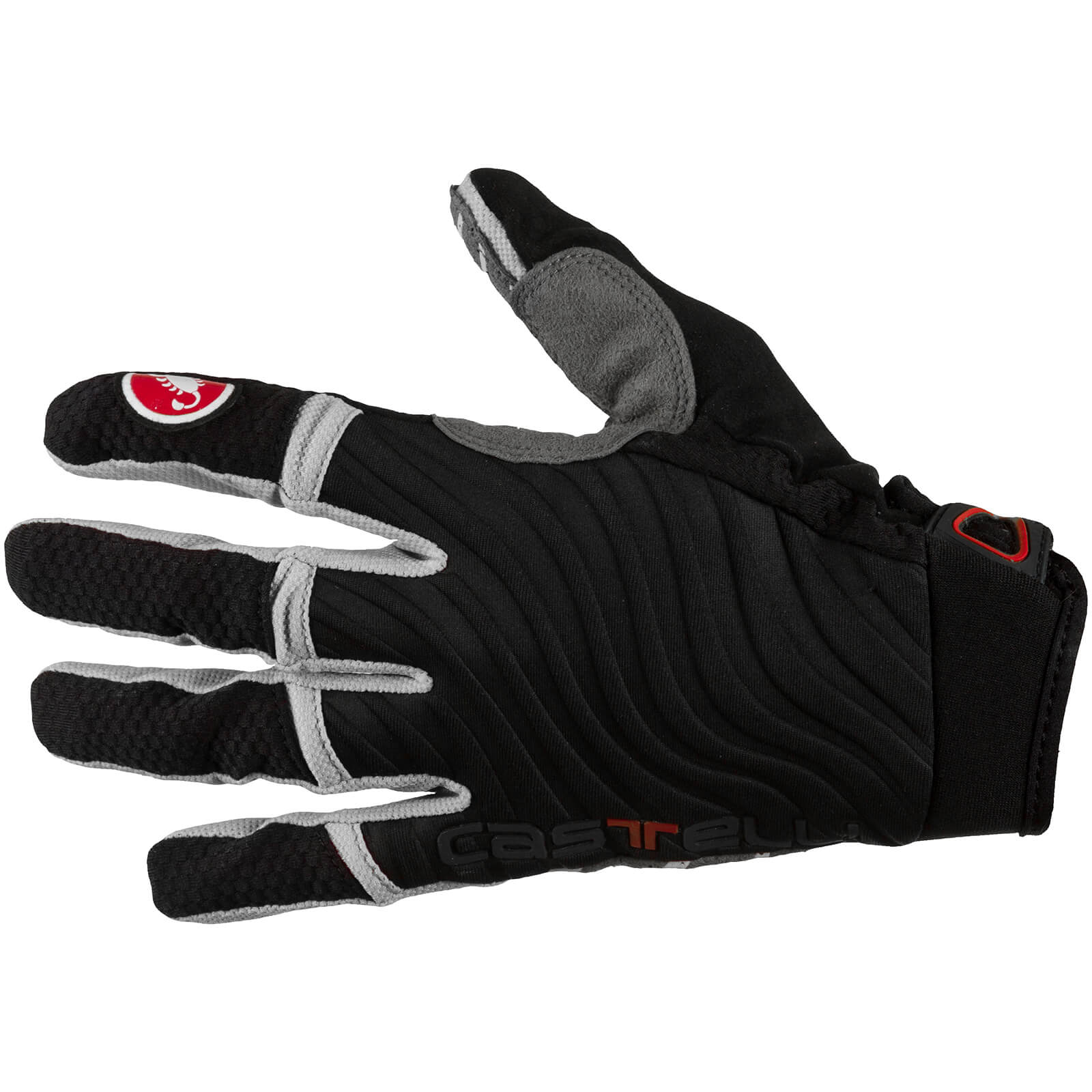 Castelli CW 6.0 Cross Gloves - Black/Luna Grey