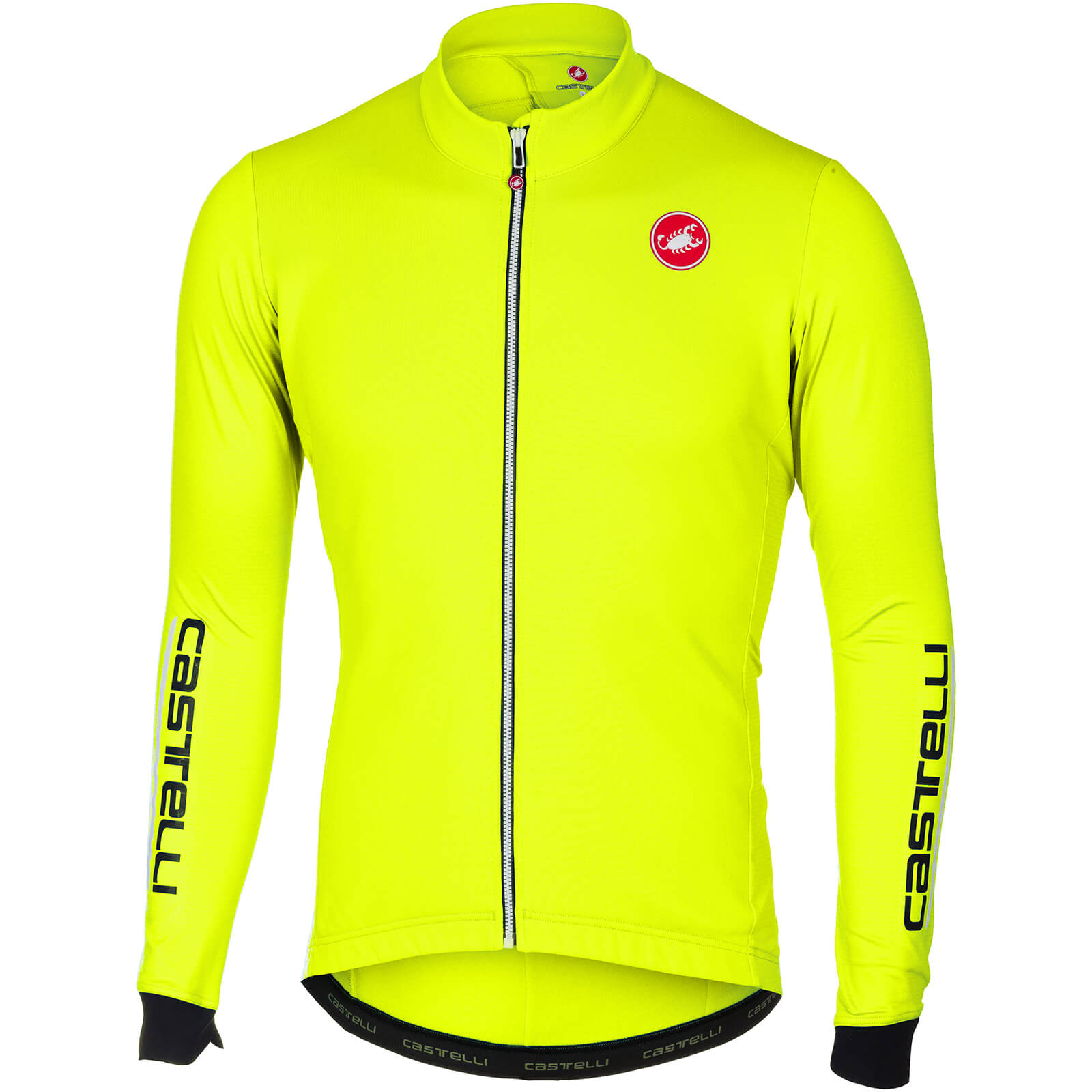 Castelli Puro 2 Long Sleeve Jersey - Yellow Fluo
