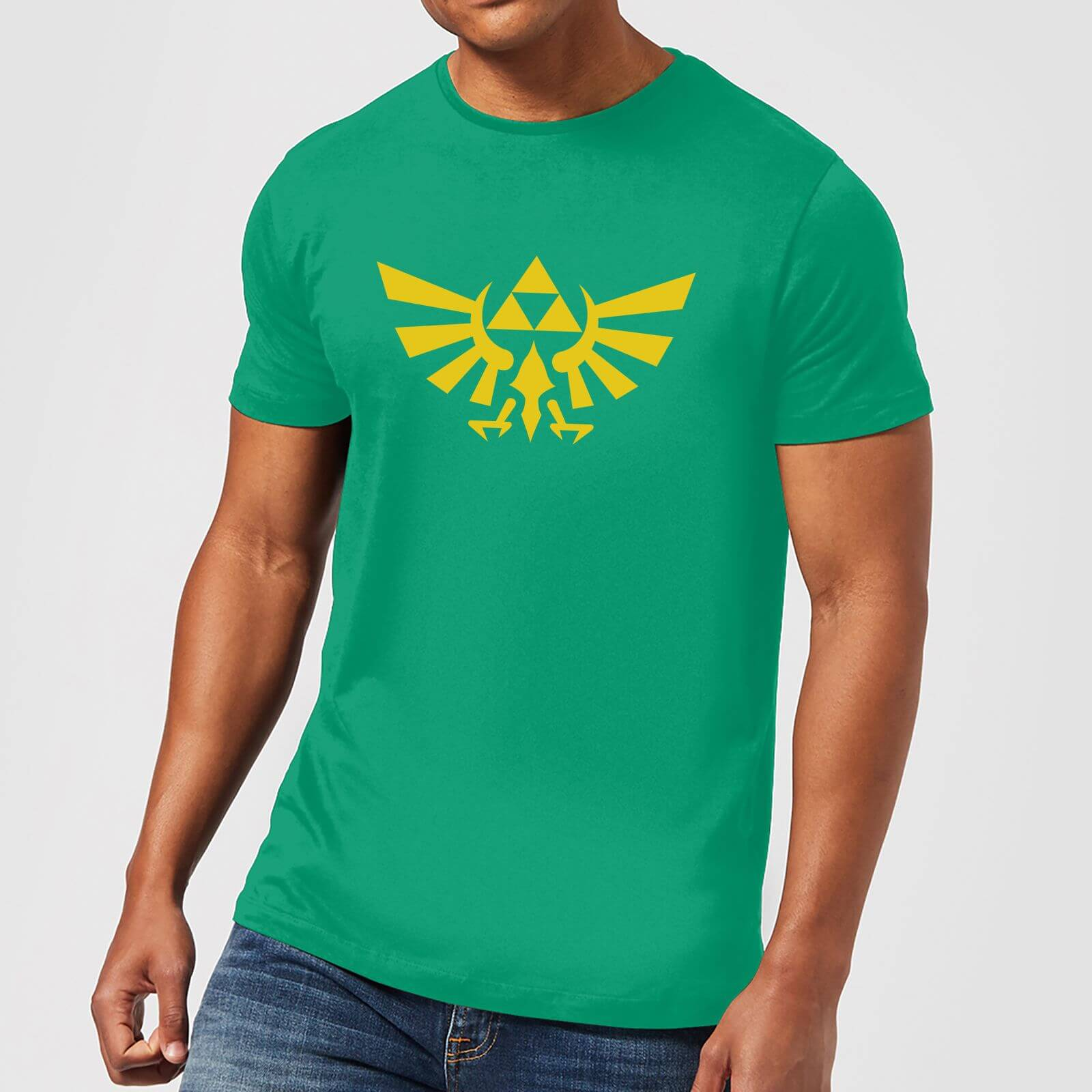 7474147b8 Nintendo The Legend Of Zelda Hyrule Men's T-Shirt - Green Clothing   Zavvi  US